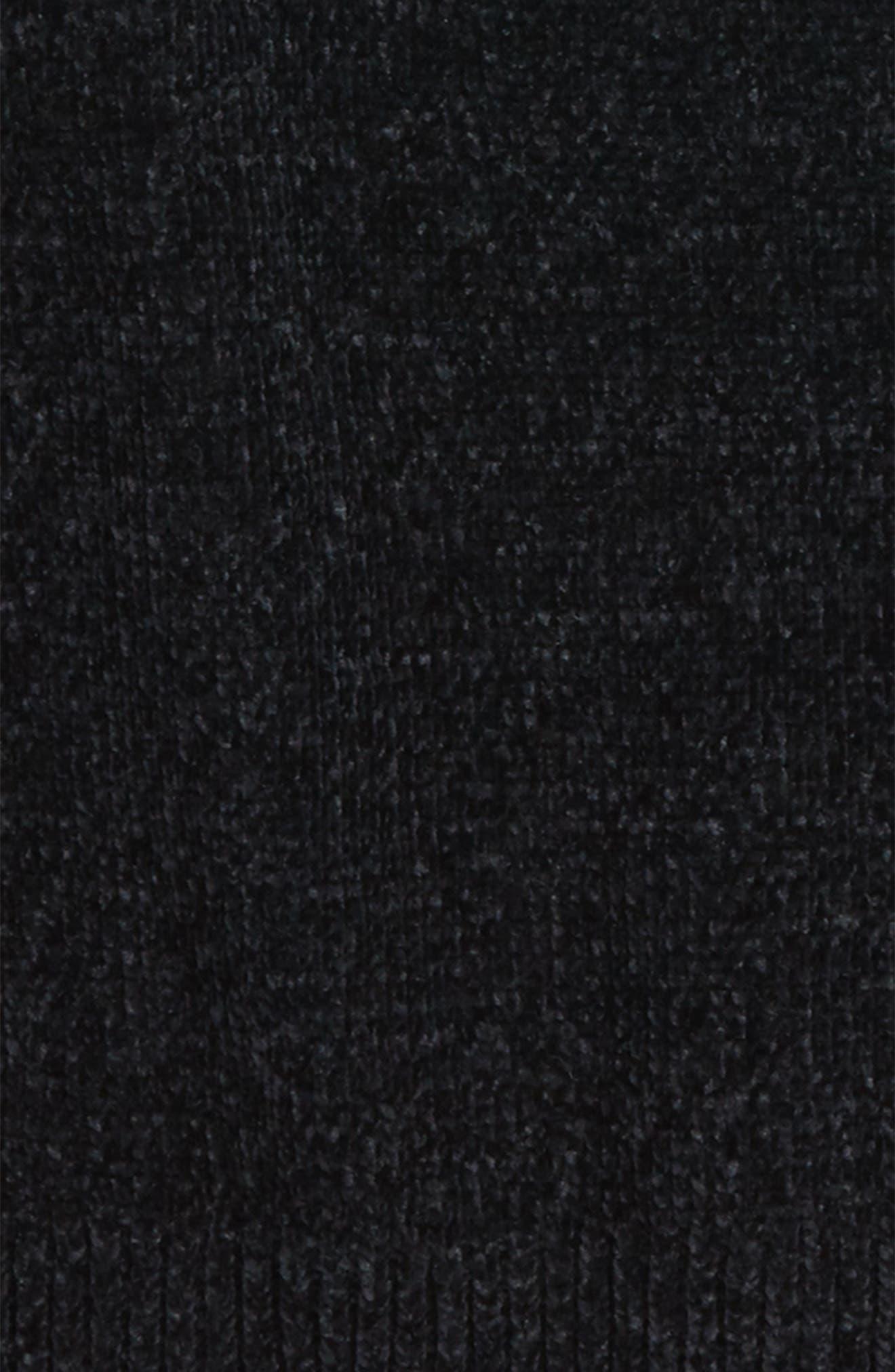 Chenille Mock Neck Sweater,                             Alternate thumbnail 2, color,                             001