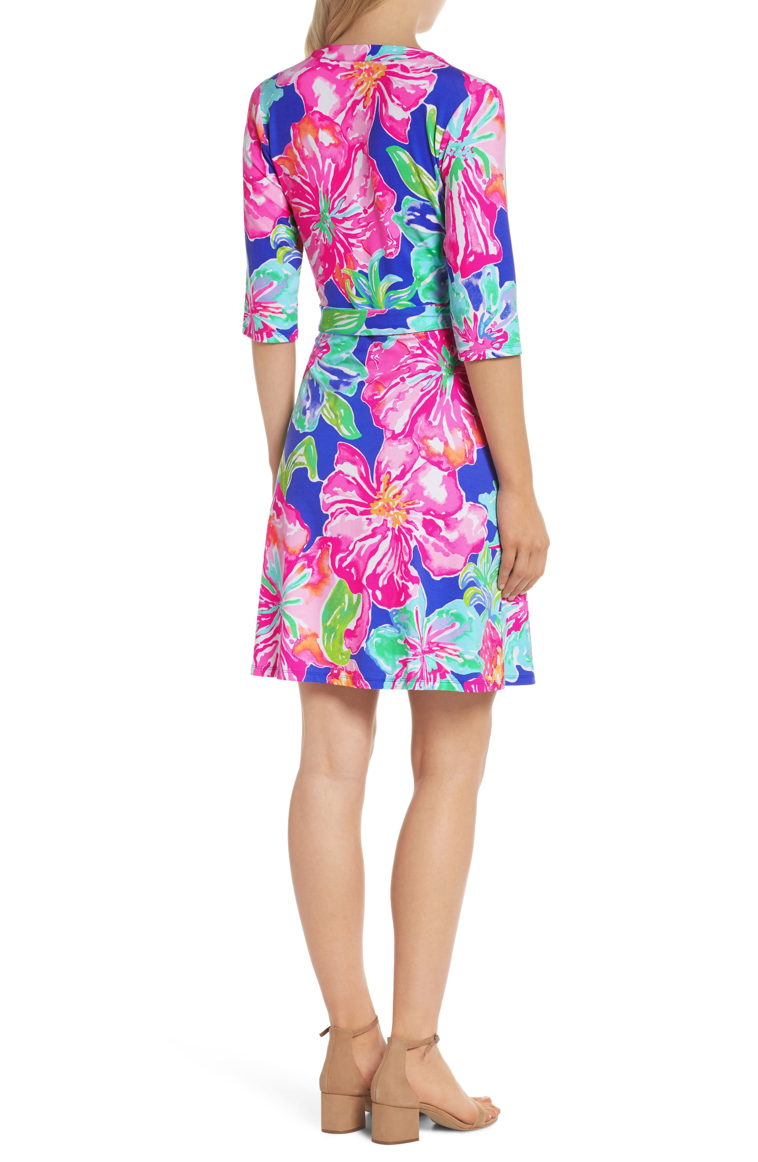Marvista Wrap Dress,                             Alternate thumbnail 2, color,                             BECKON BLUE JUNGLE UTOPIA