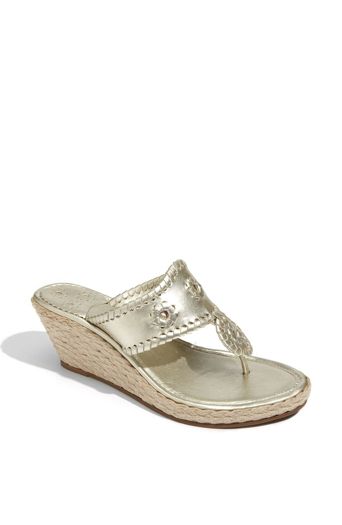 'Marbella' Rope Wedge Sandal,                             Main thumbnail 1, color,                             042