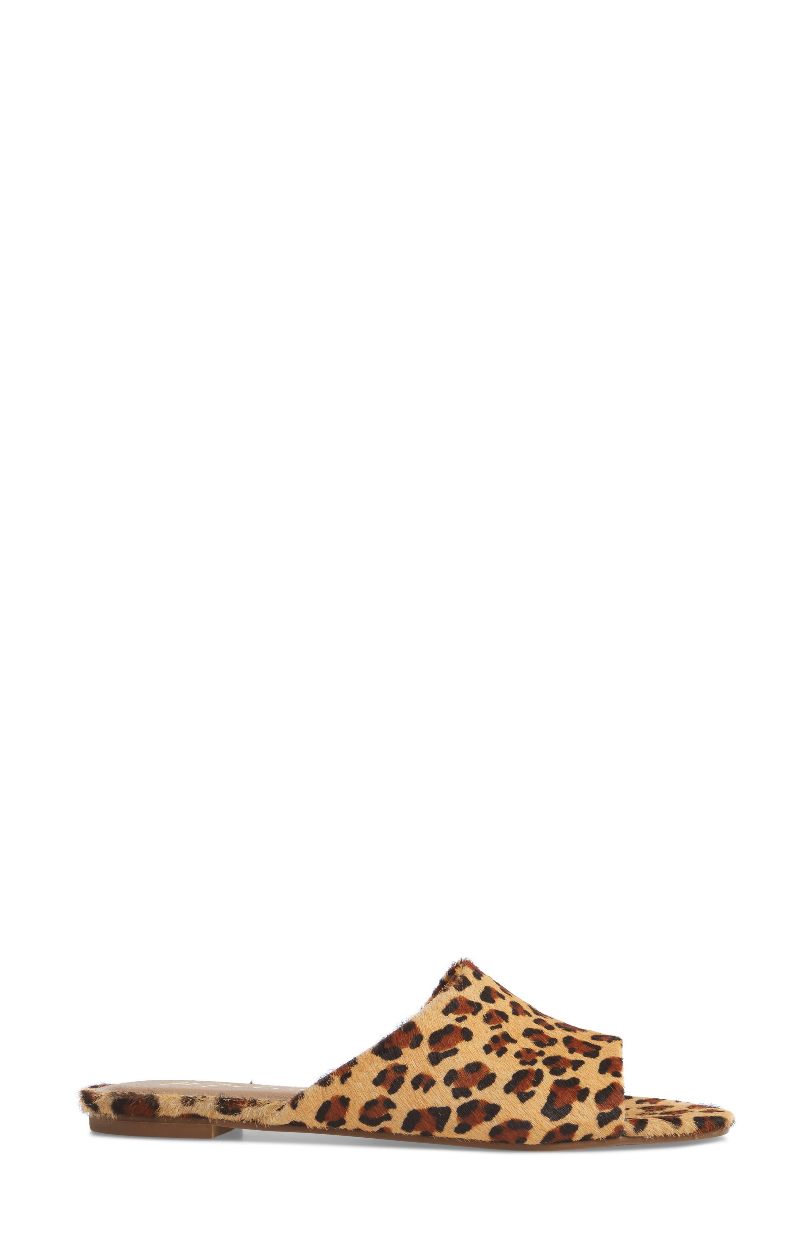Lira Genuine Calf Hair Sandal,                             Alternate thumbnail 3, color,                             LEOPARD LEATHER