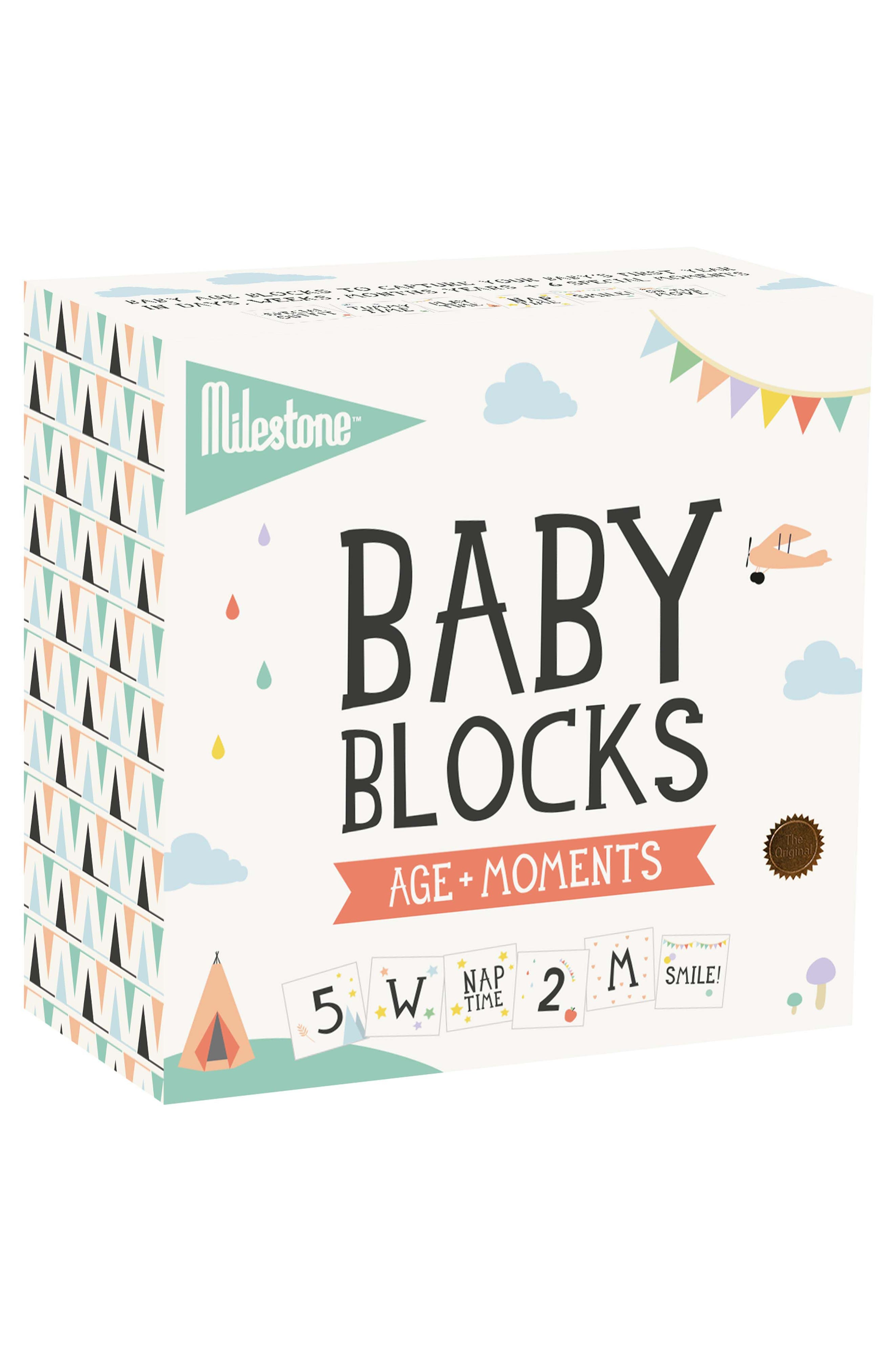 Milestone Baby Age + Moments Blocks,                             Alternate thumbnail 3, color,                             OFF WHITE