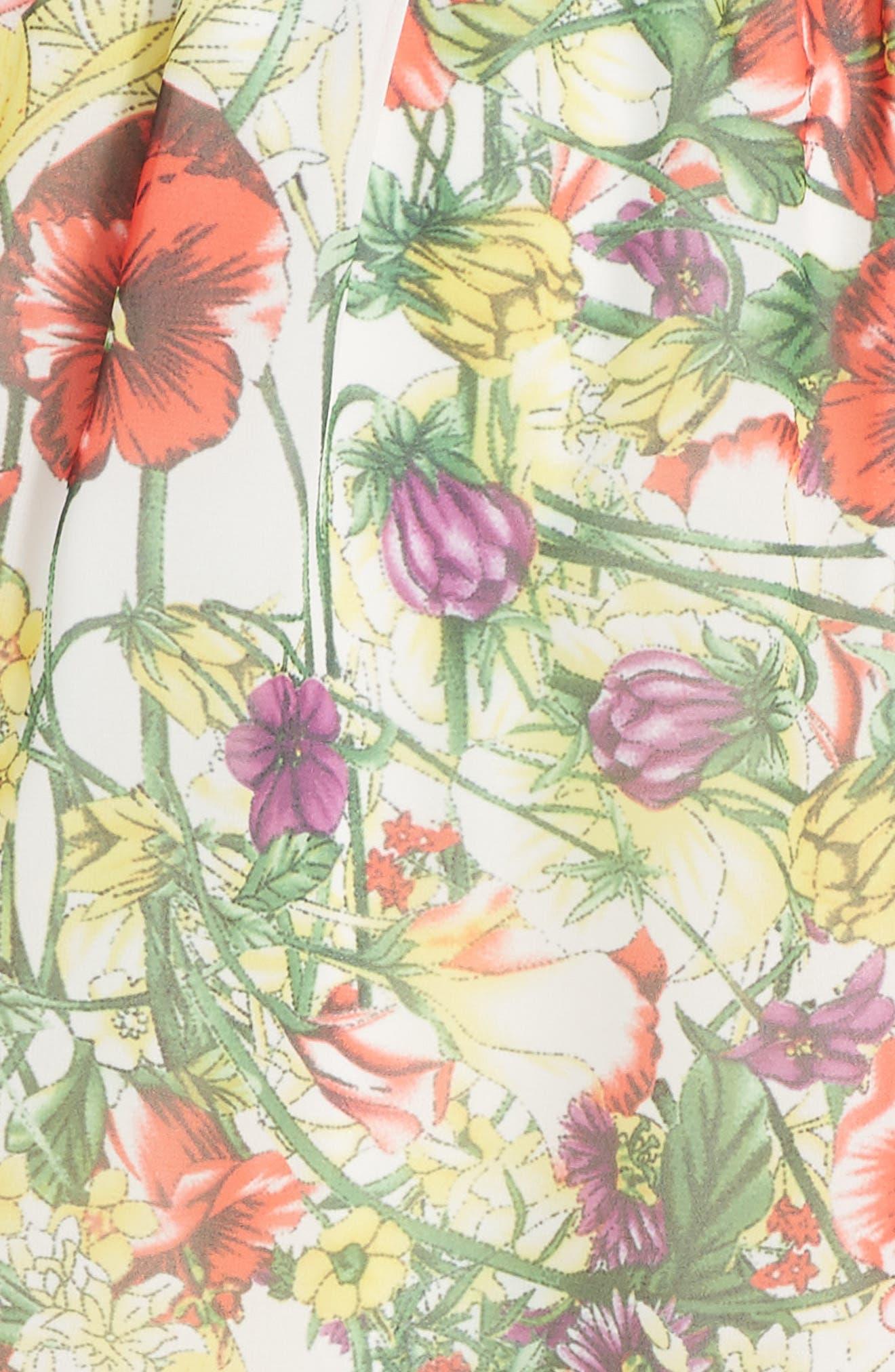Print Chiffon Halter Dress,                             Alternate thumbnail 4, color,