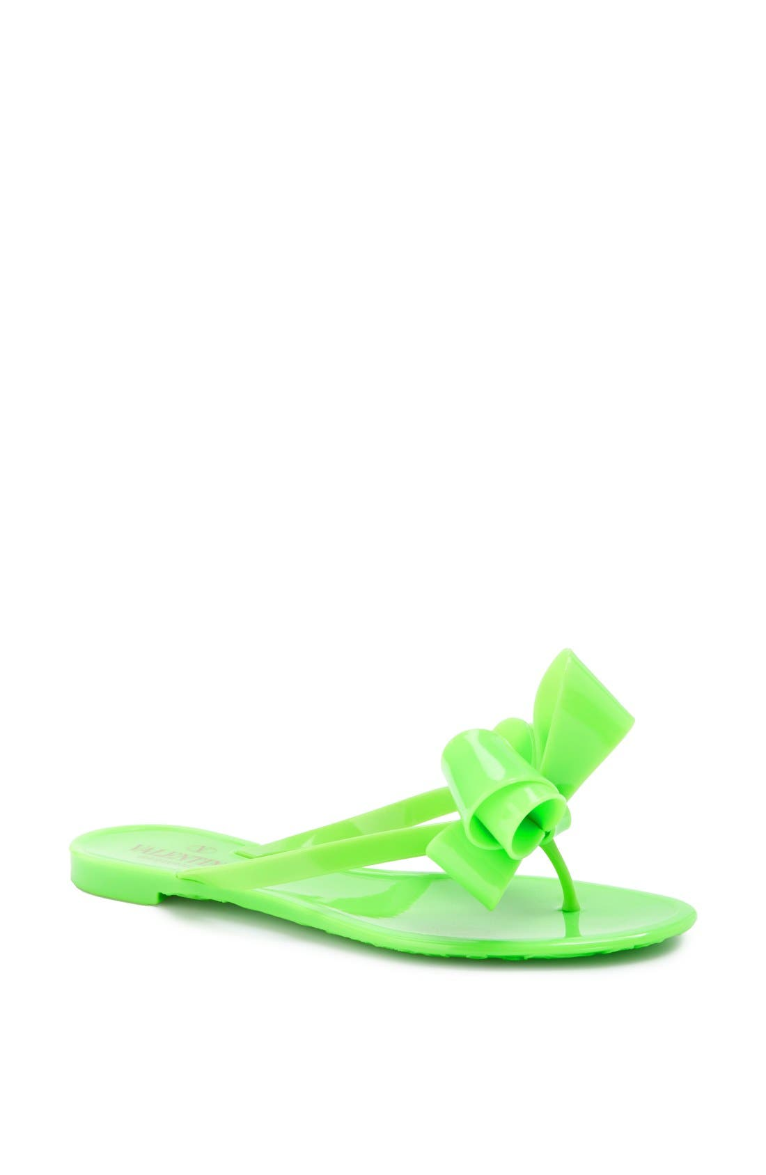 Couture Bow Thong Sandal,                             Main thumbnail 6, color,