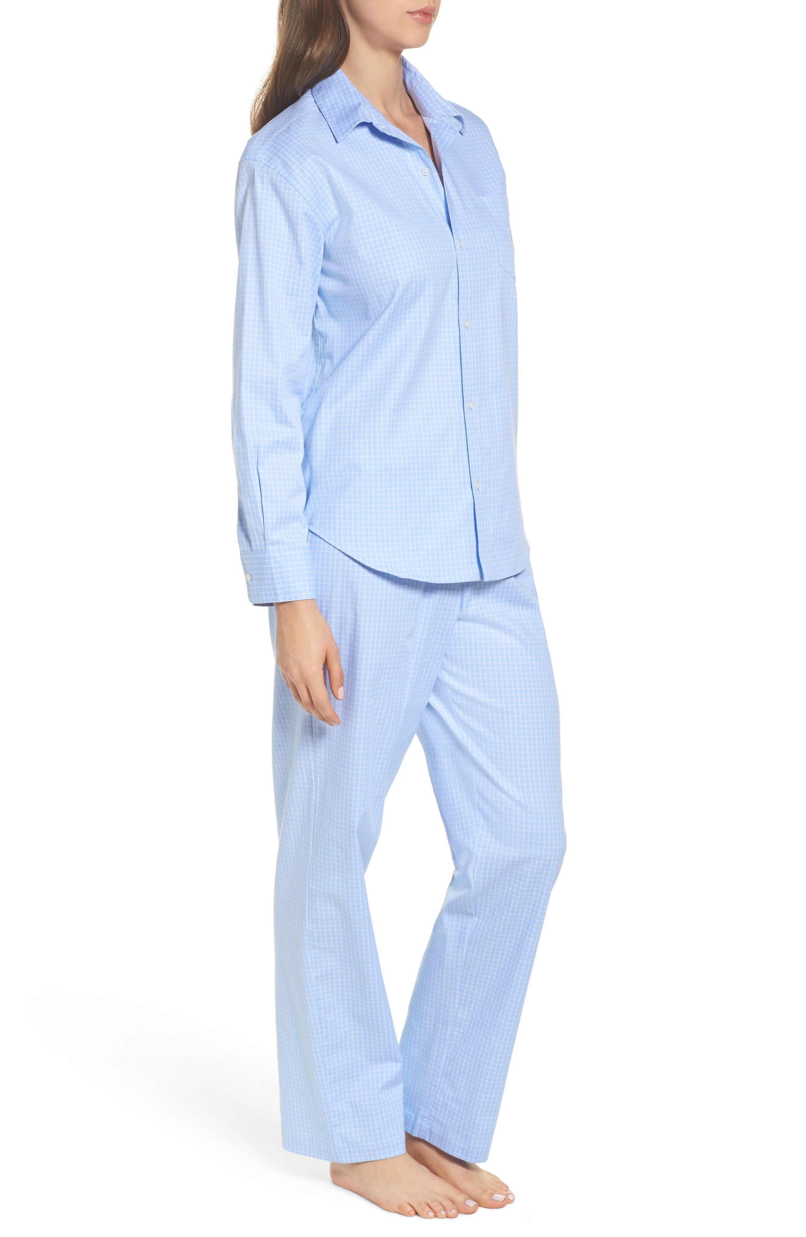 Stretch Cotton Pajamas,                             Alternate thumbnail 3, color,