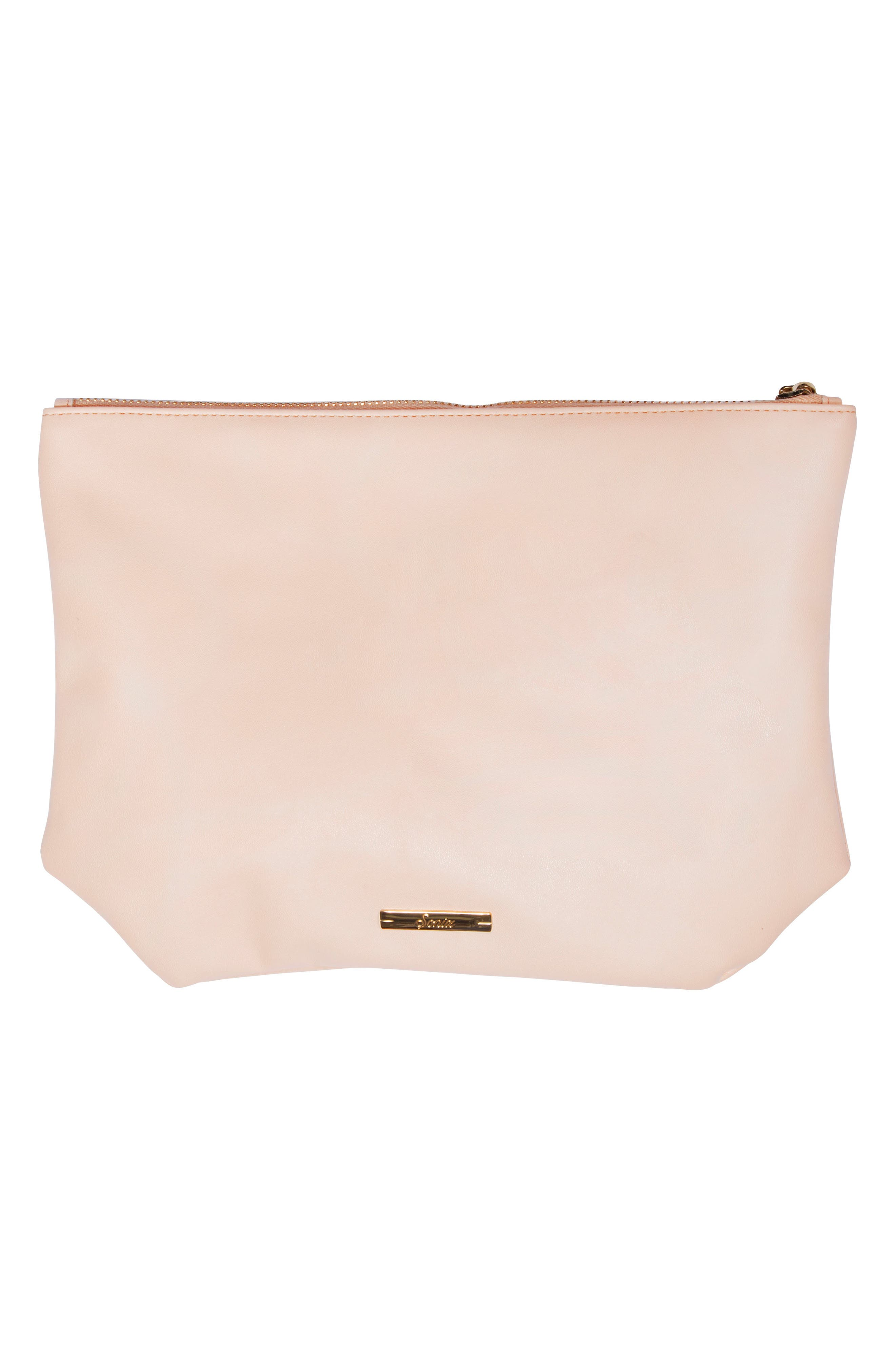 The Future is Female Faux Leather Everyday Pouch,                             Alternate thumbnail 3, color,                             650