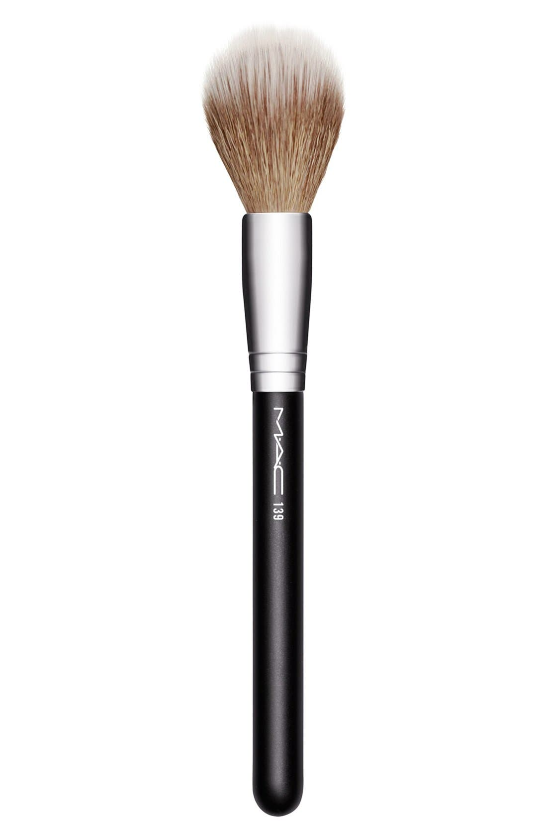 MAC COSMETICS,                             M·A·C 139 Duo Fibre Tapered Face Brush,                             Main thumbnail 1, color,                             000
