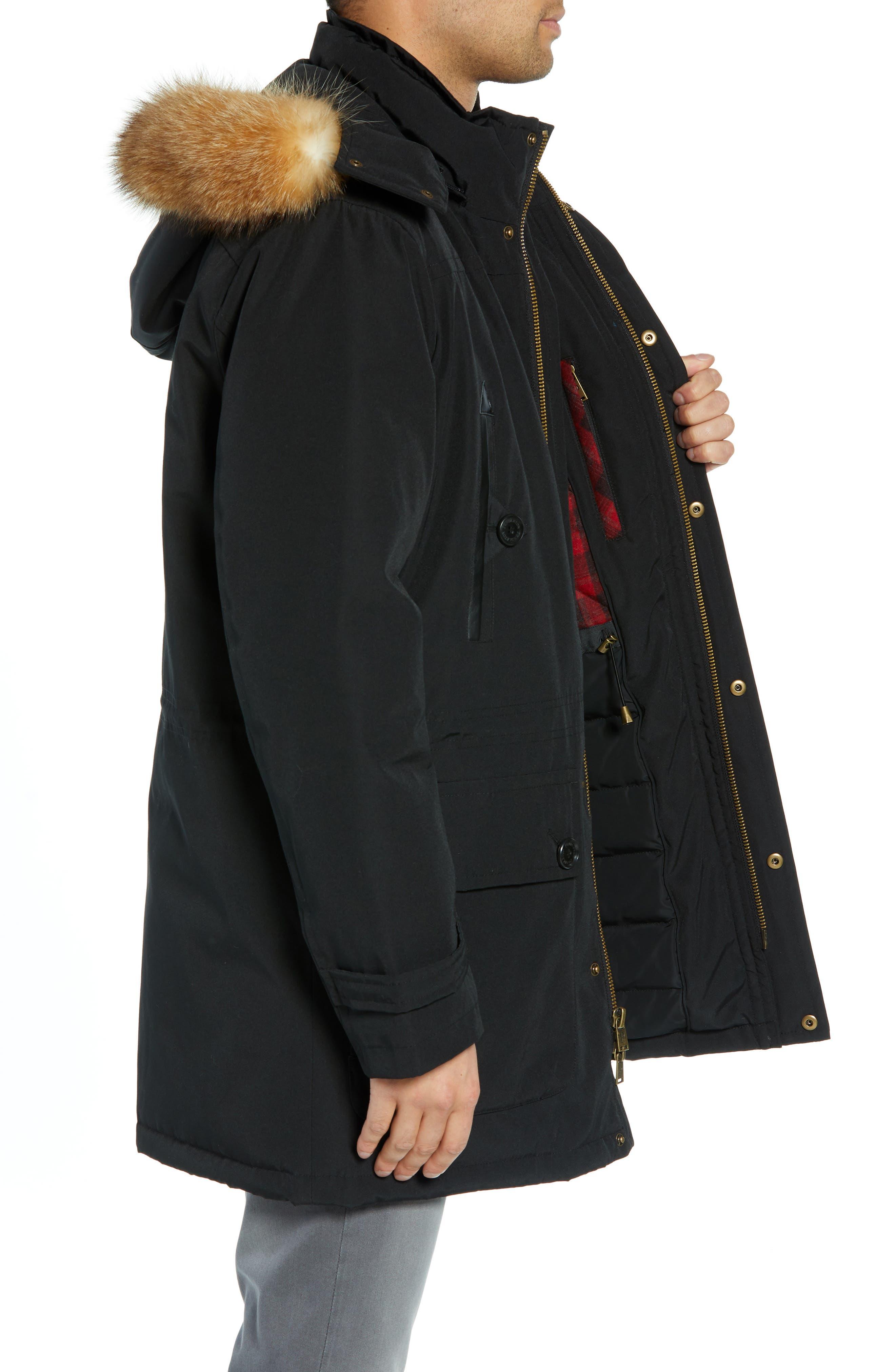 Signature Denver 650-Fill Power Down Parka with Genuine Raccoon Fur,                             Alternate thumbnail 3, color,                             BLACK