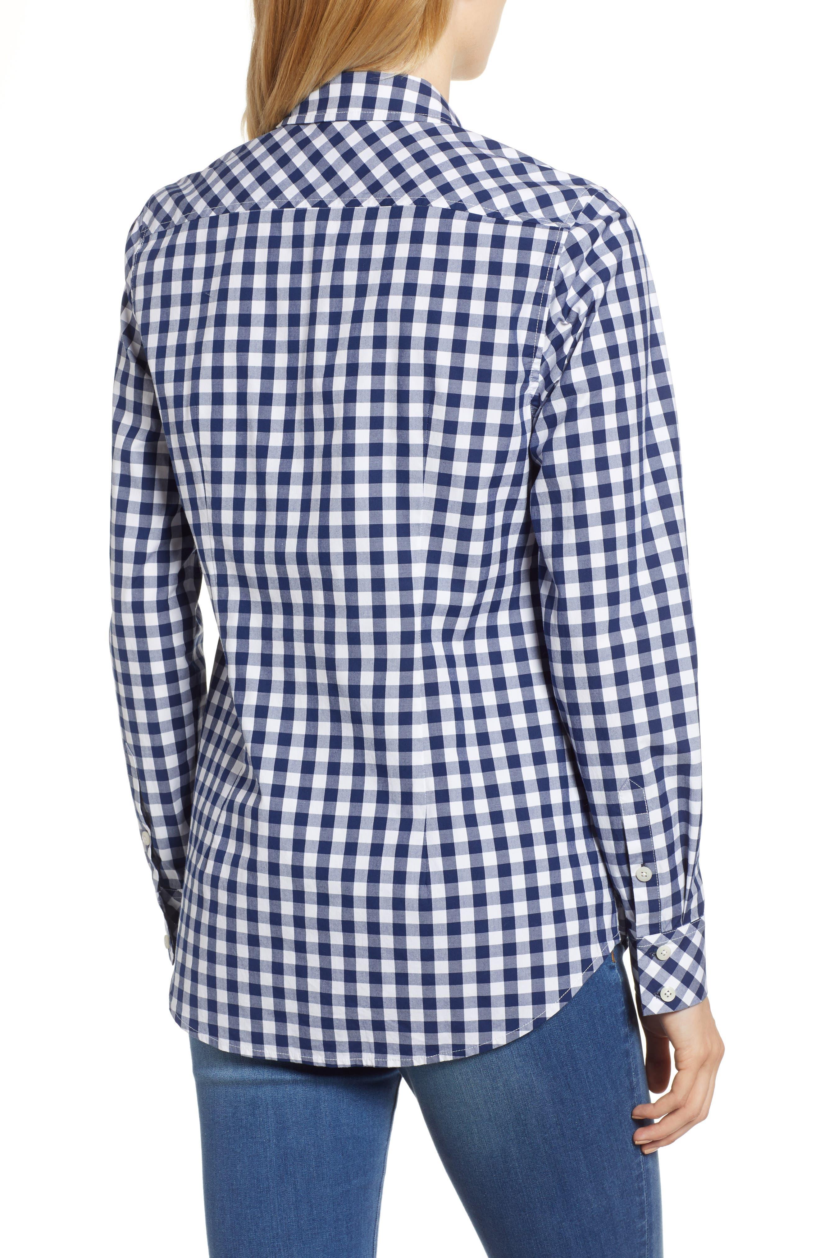 Mini Gingham Classic Button Down Shirt,                             Alternate thumbnail 2, color,                             476