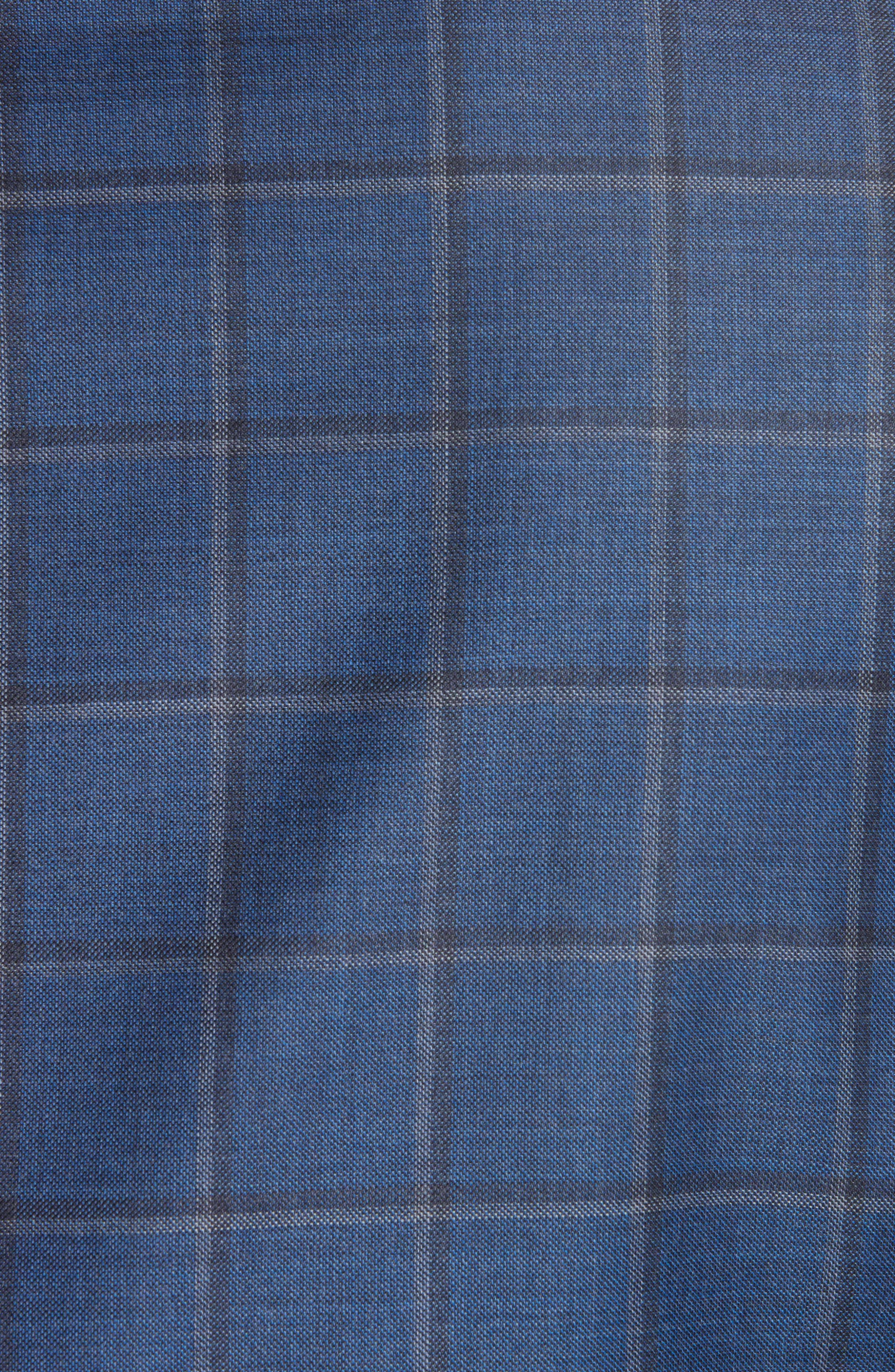 Classic Fit Windowpane Wool Sport Coat,                             Alternate thumbnail 6, color,                             BLUE