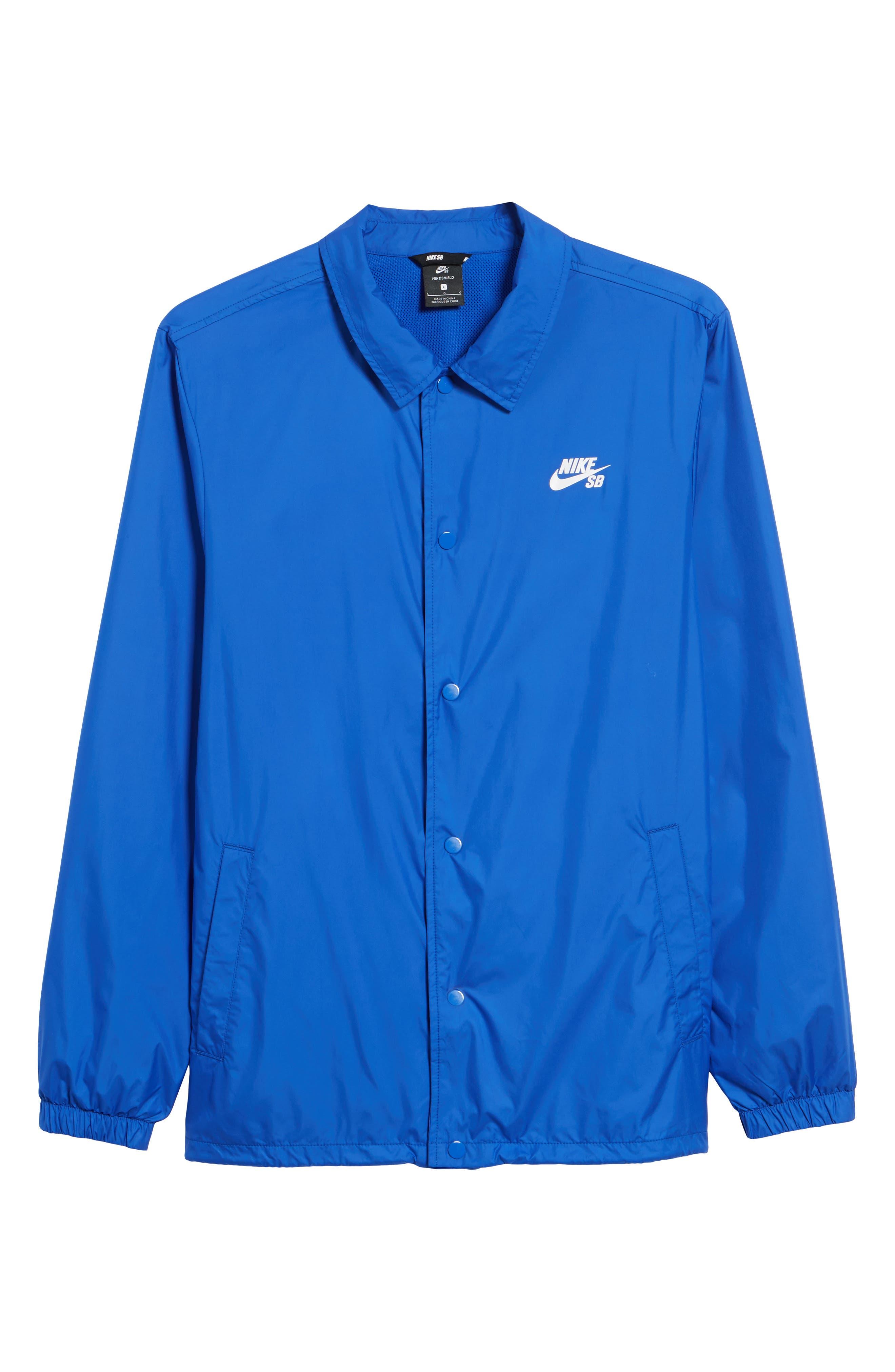 SB Shield Coach's Jacket,                             Alternate thumbnail 6, color,                             HYPER ROYAL/ WHITE
