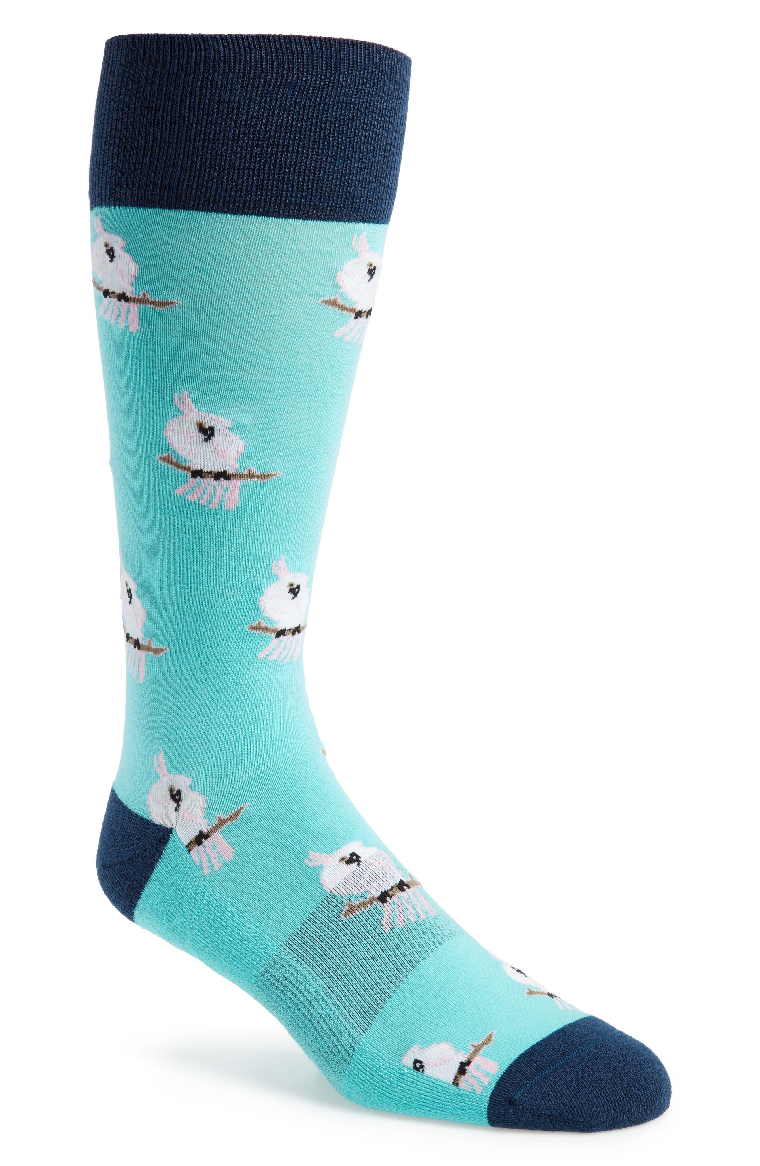 Cockatoo Socks,                             Main thumbnail 1, color,                             NAVY/ TEAL