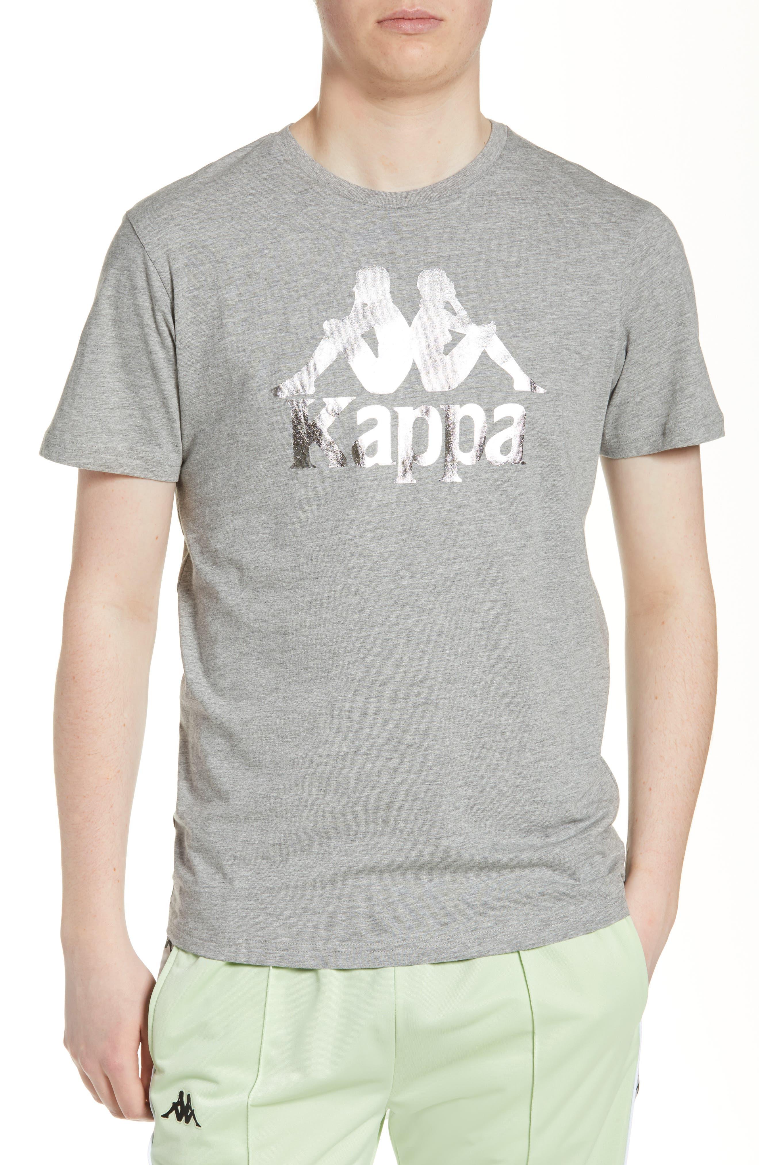 KAPPA,                             Estessi Graphic T-Shirt,                             Main thumbnail 1, color,                             HEATHER GREY