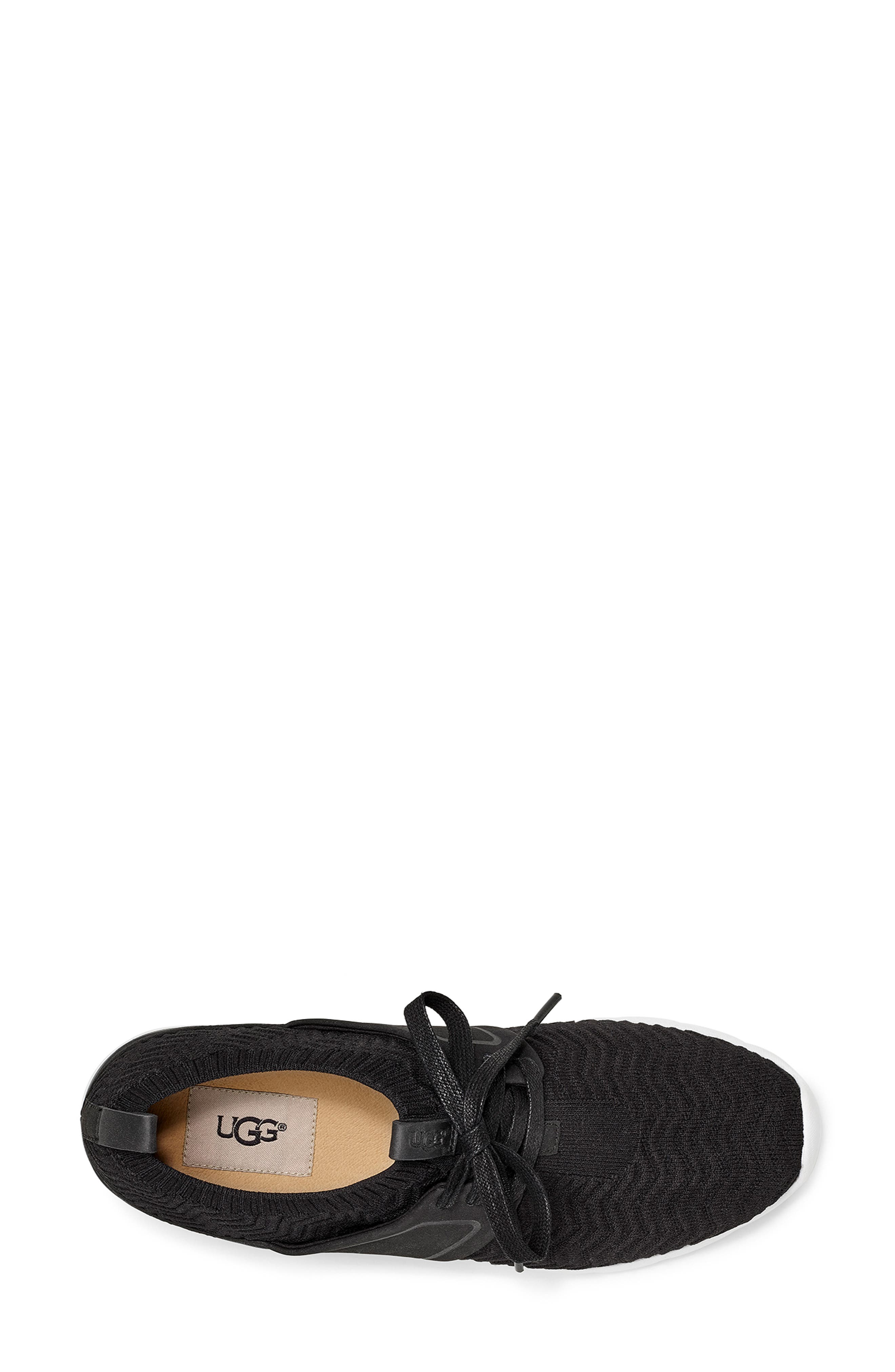 UGG<SUP>®</SUP>,                             Willows Sneaker,                             Alternate thumbnail 4, color,                             BLACK