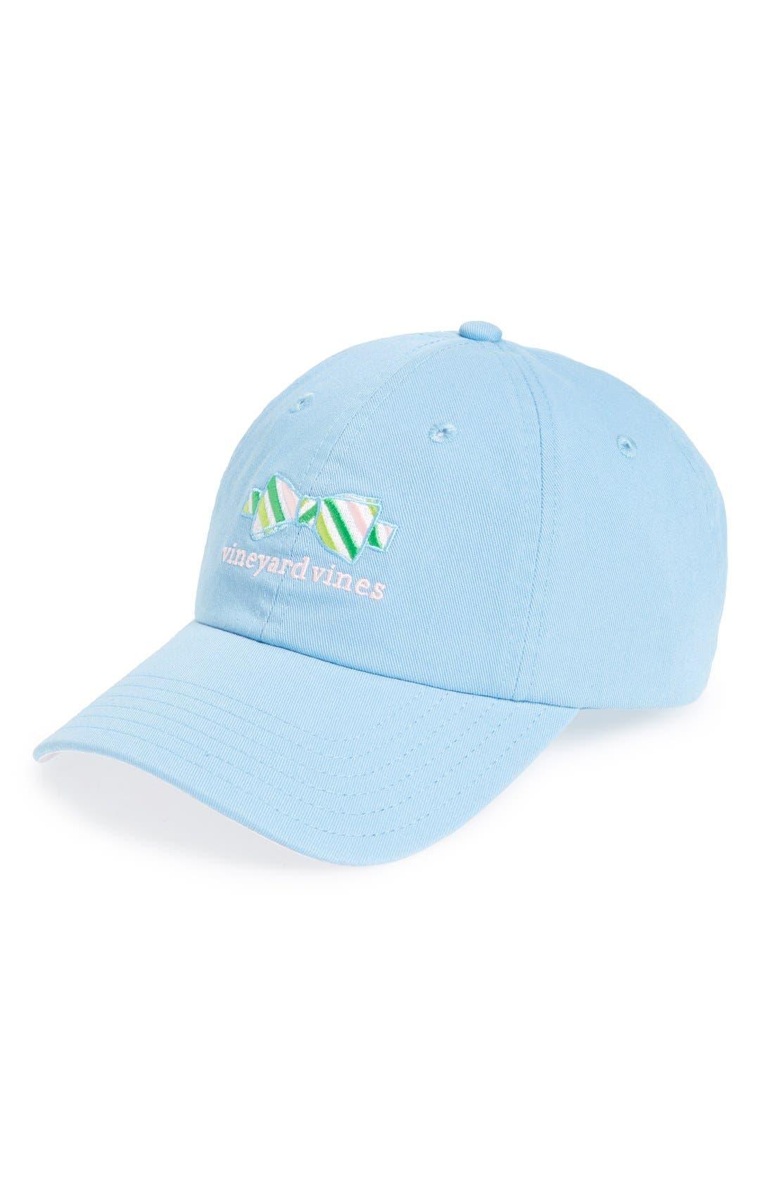 'Bow Tie' Baseball Cap, Main, color, 456