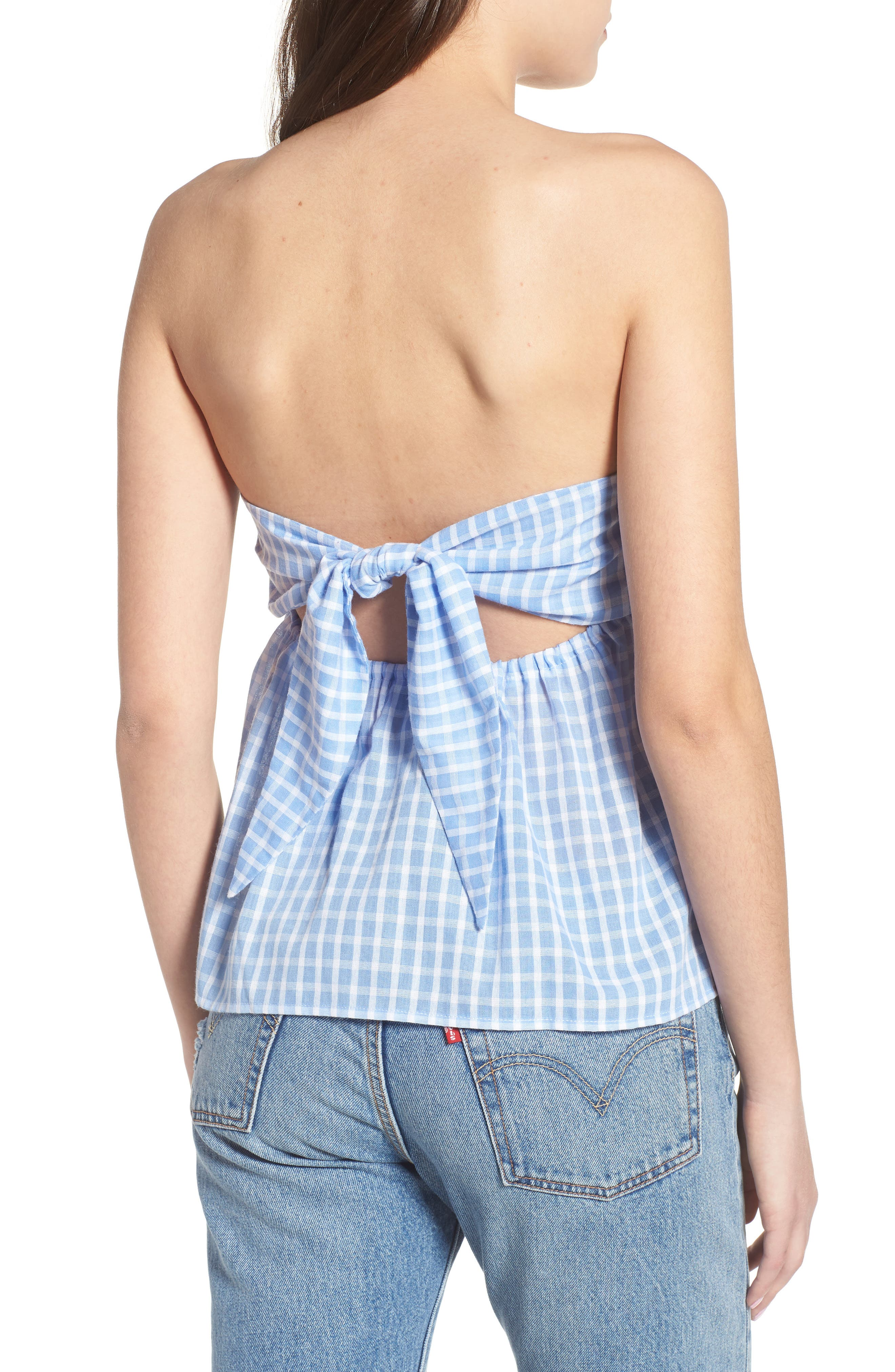Knot Back Strapless Top,                             Alternate thumbnail 2, color,                             453