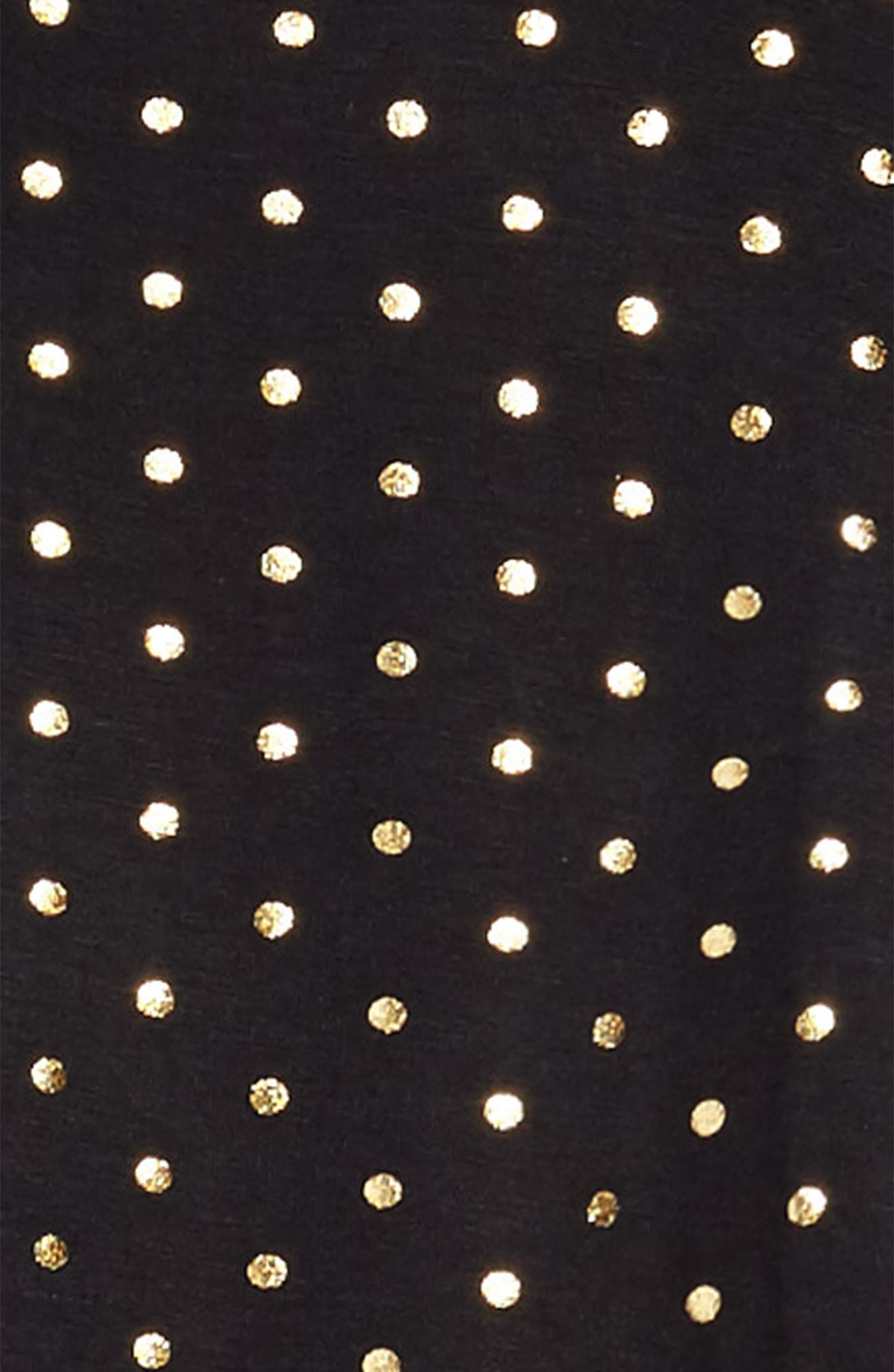 Foil Polka Dot Jersey Dress,                             Alternate thumbnail 3, color,                             005