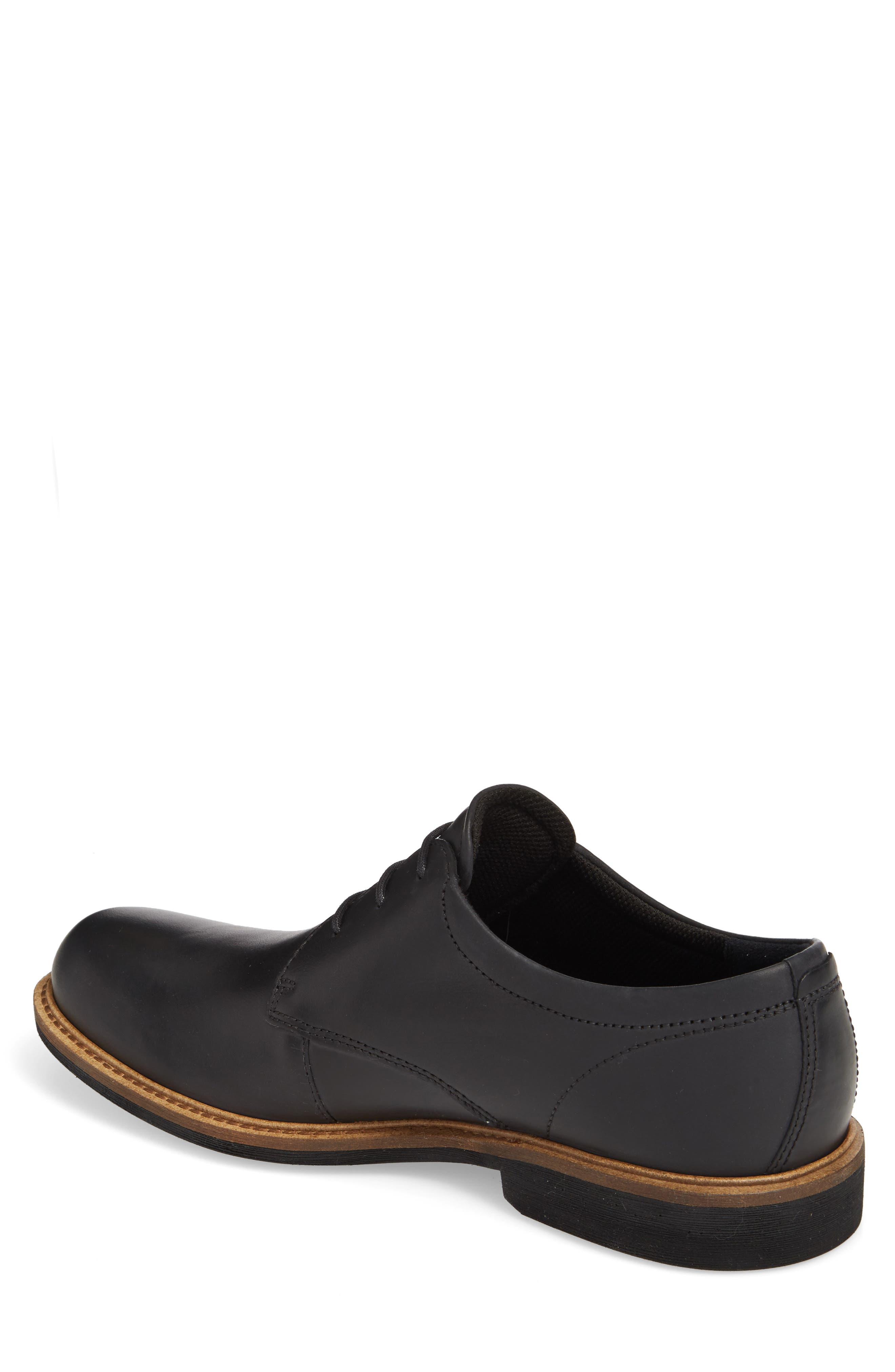 Findlay Plain Toe Derby,                             Alternate thumbnail 2, color,                             BLACK LEATHER