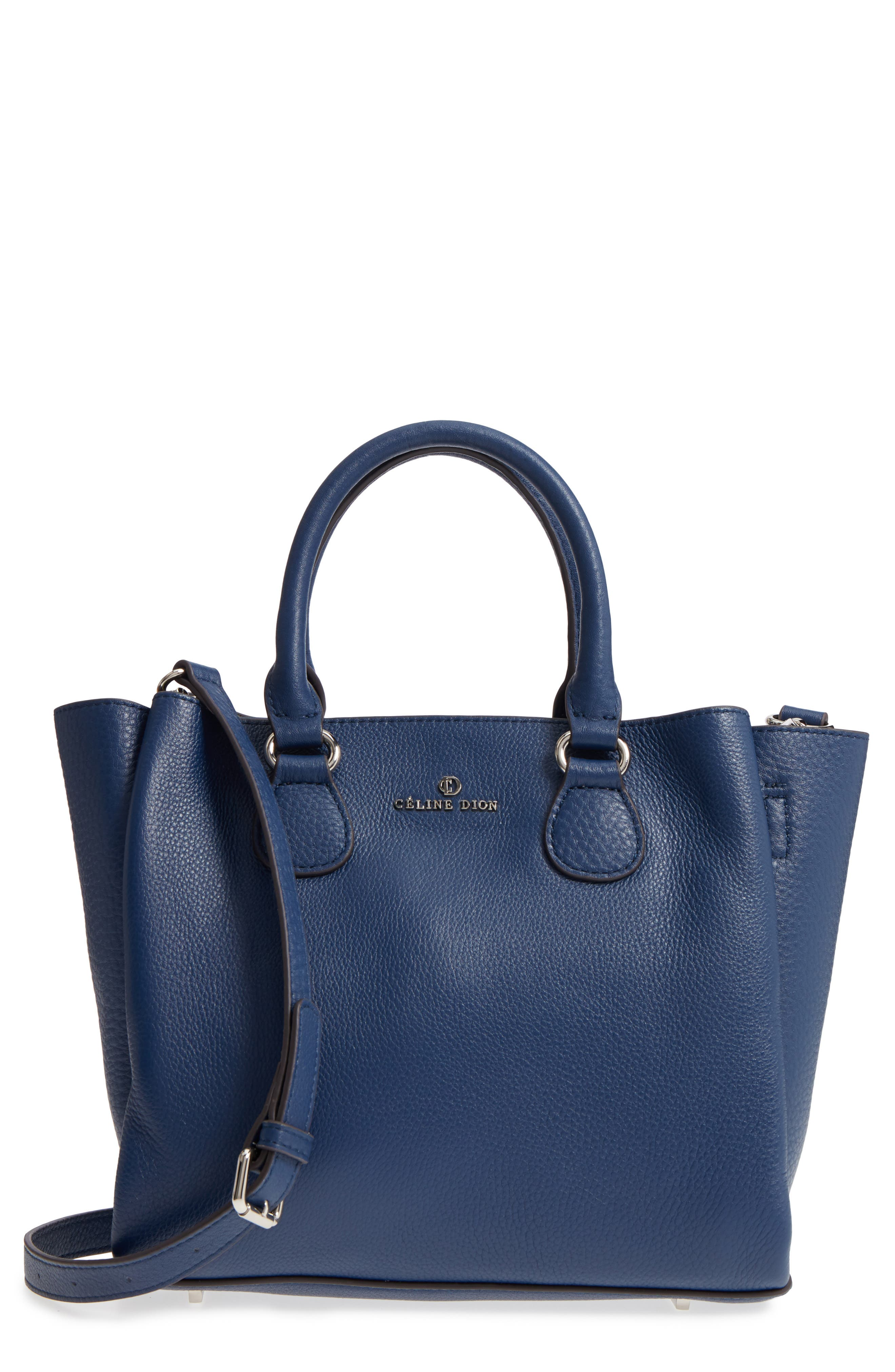 Céline Dion Small Adagio Leather Satchel,                             Main thumbnail 4, color,