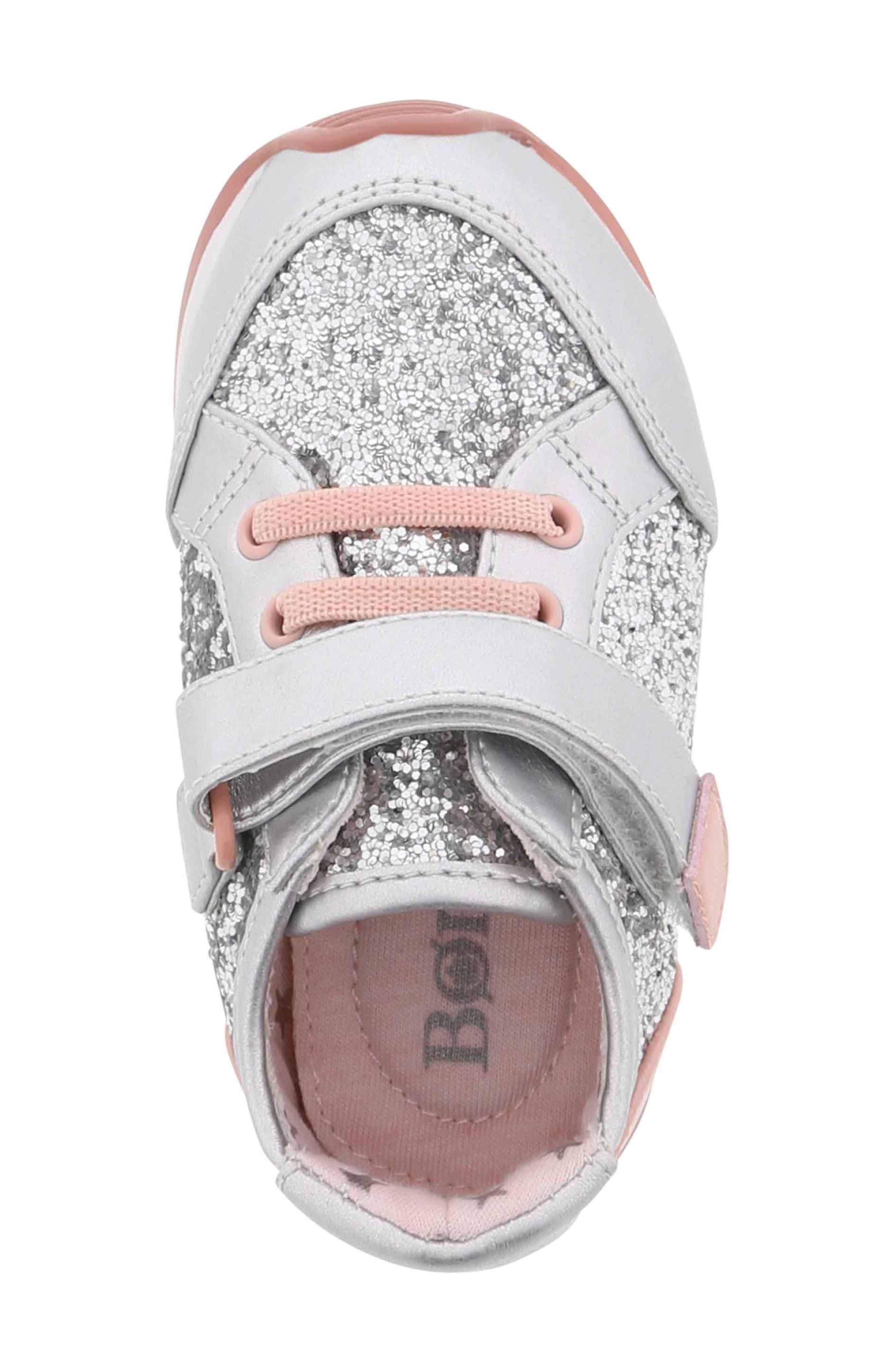 BØRN,                             Adyson Margyne Sparkle Sneaker,                             Alternate thumbnail 5, color,                             SILVER PINK