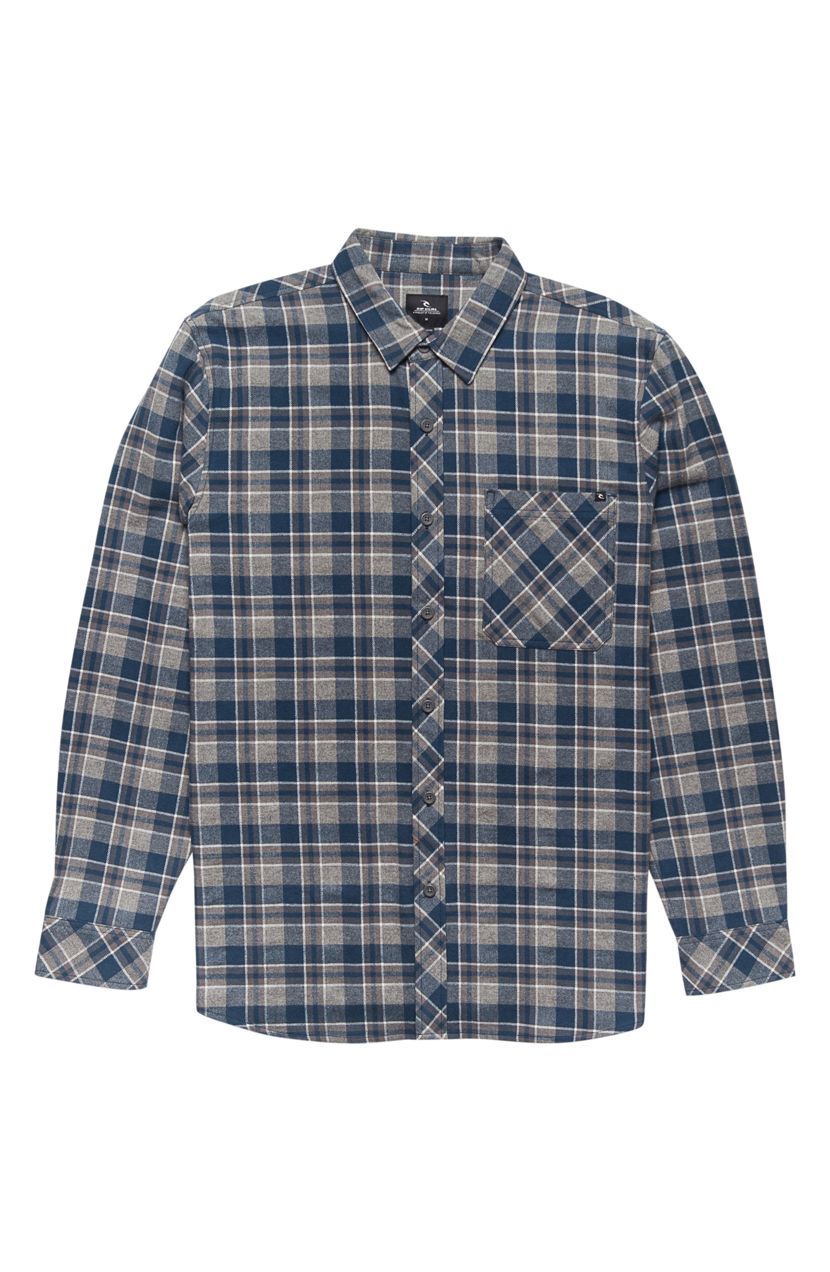 Mundo Plaid Flannel Shirt,                         Main,                         color, 410
