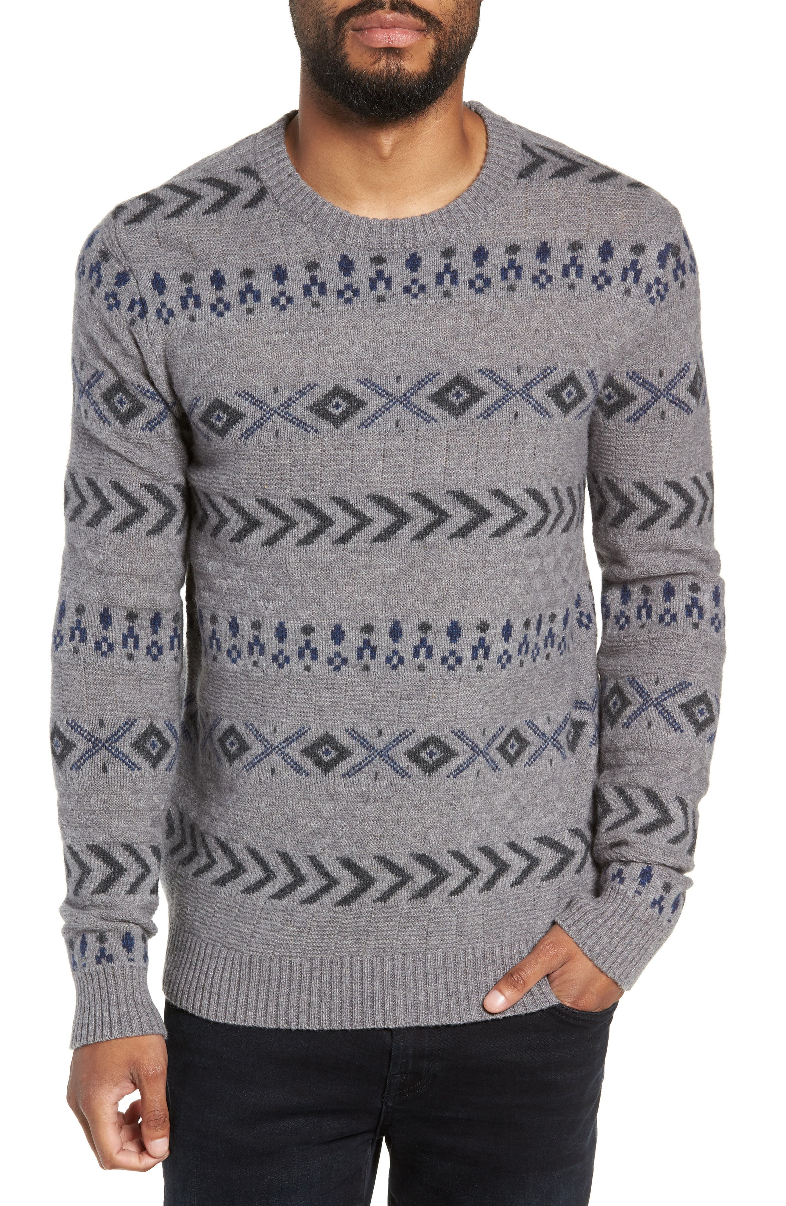Selected Homme New Monrad Regular Fit Crewneck Sweater, Grey
