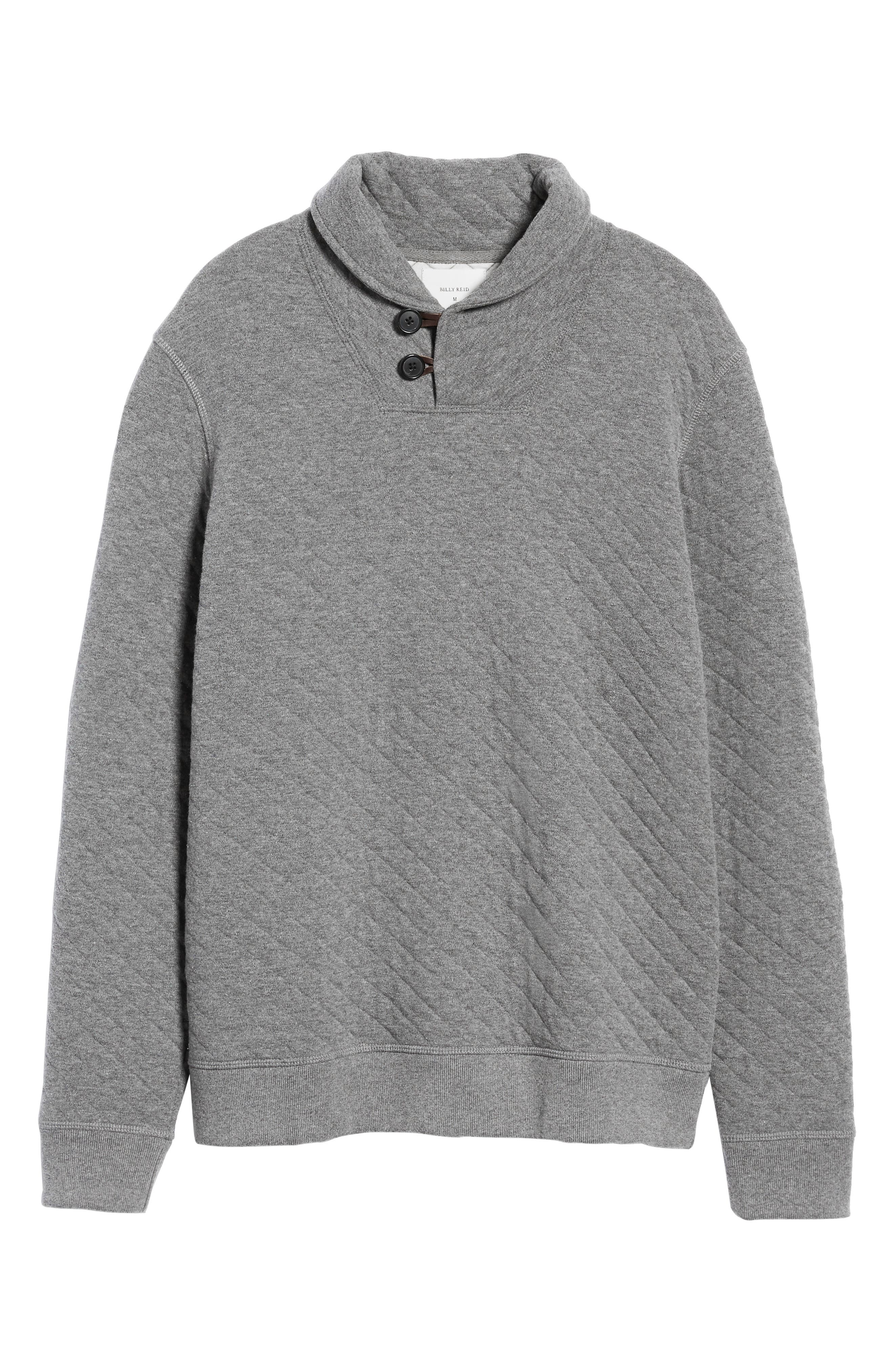 Shawl Collar Pullover,                             Alternate thumbnail 6, color,                             MEDIUM GREY