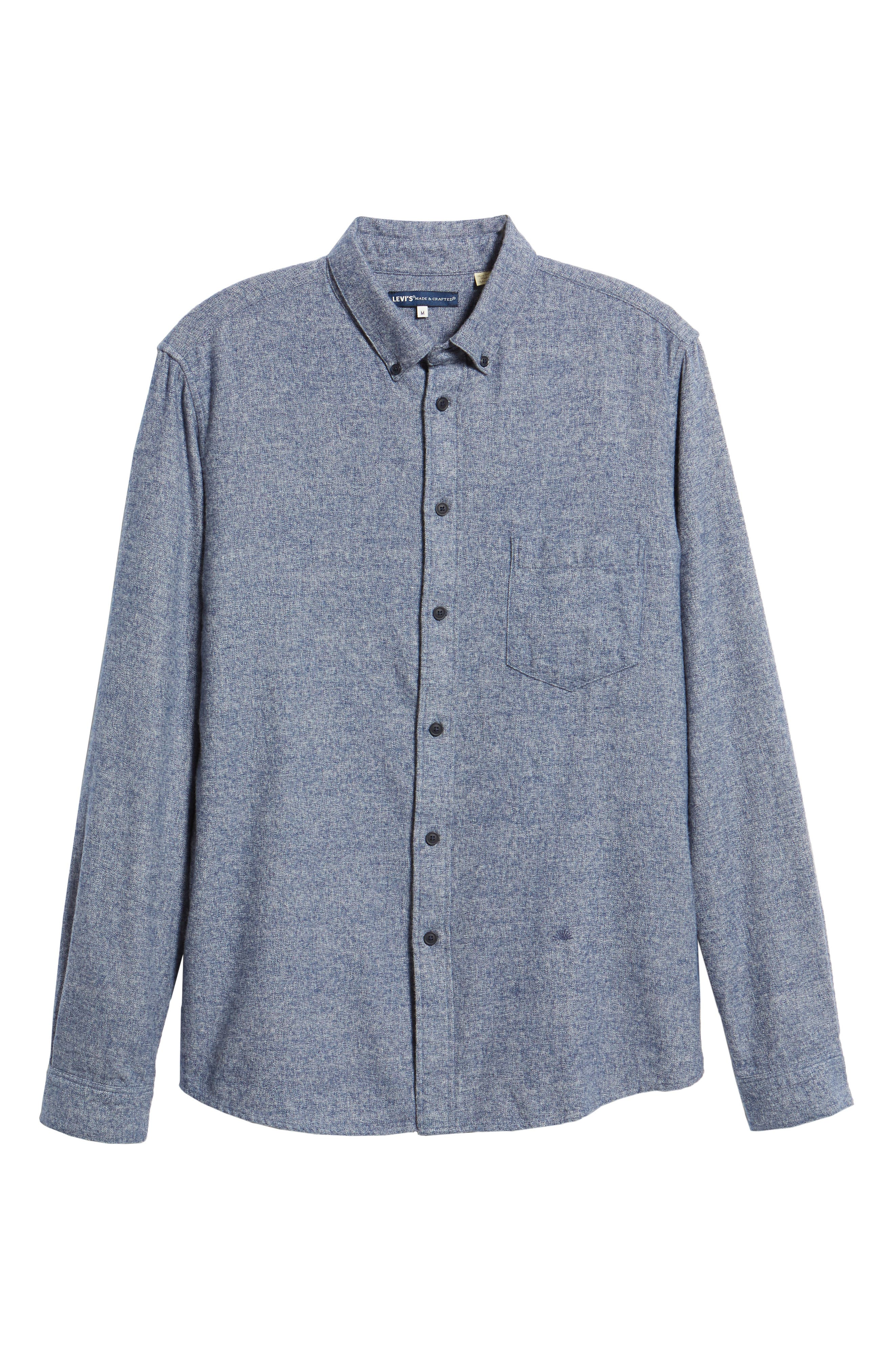 Levi's<sup>®</sup> Made & Crafted Standard Regular Fit Twill Shirt,                             Alternate thumbnail 5, color,                             400