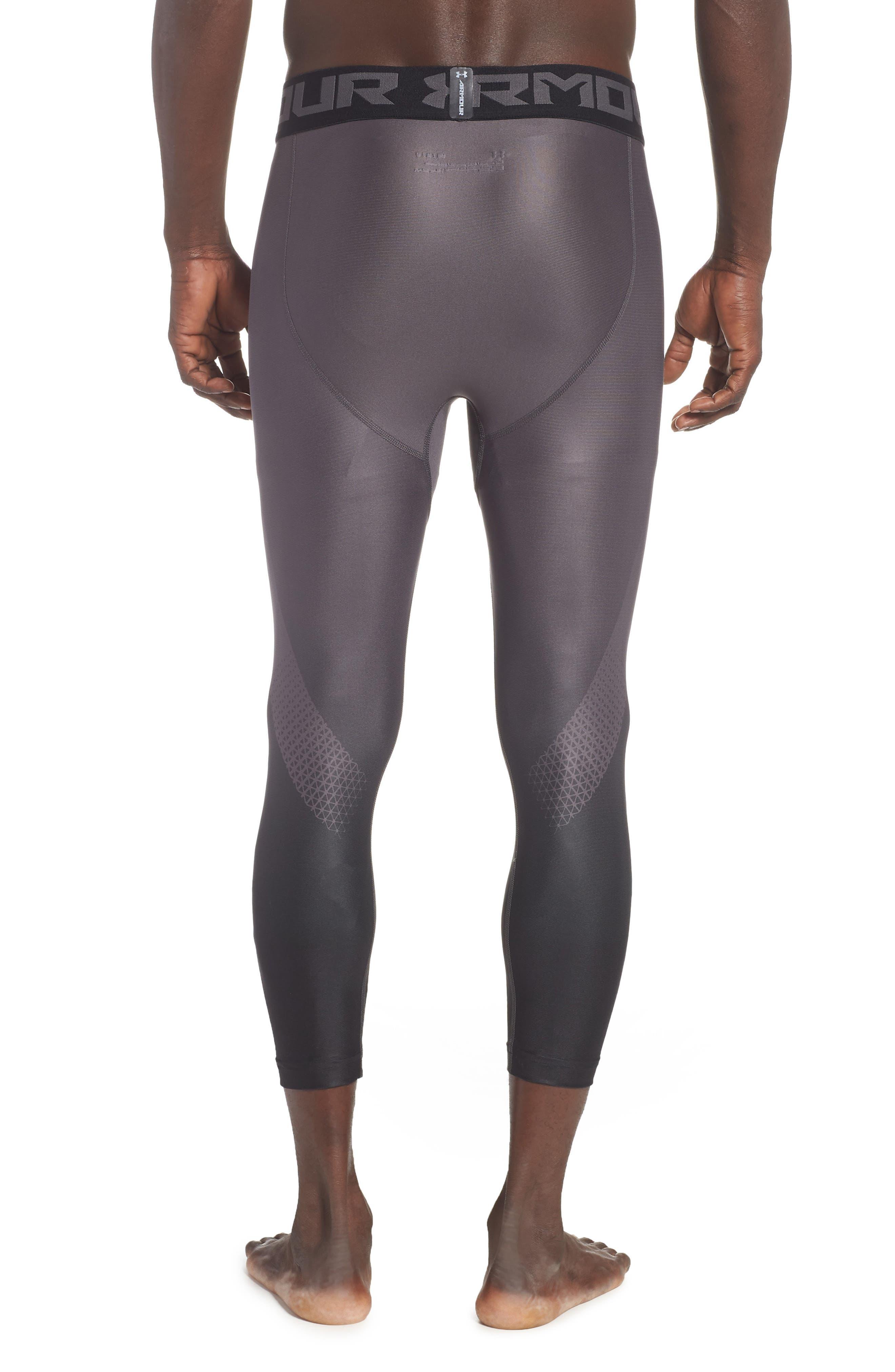 HeatGear<sup>®</sup> 2.0 Three-Quarter Leggings,                             Alternate thumbnail 2, color,                             CHARCOAL