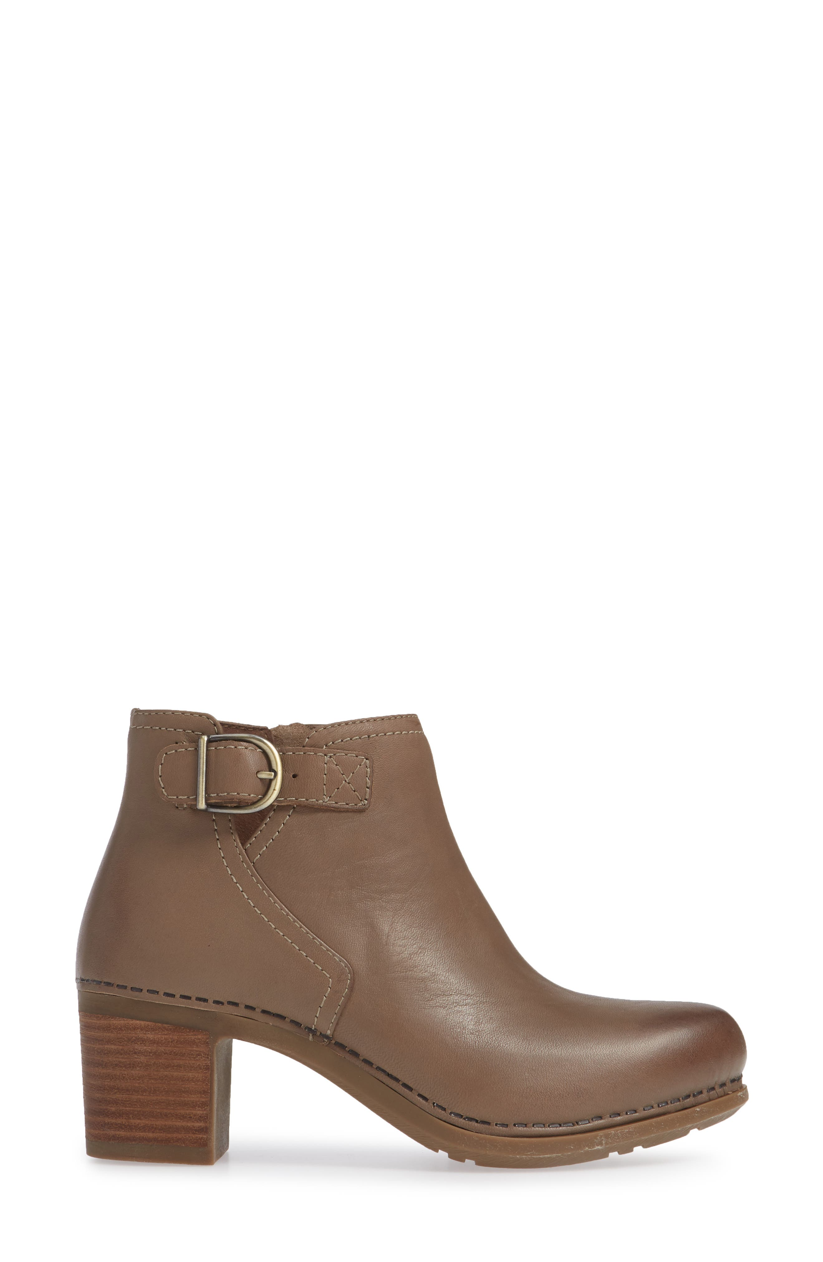 Henley Bootie,                             Alternate thumbnail 3, color,                             TAUPE LEATHER
