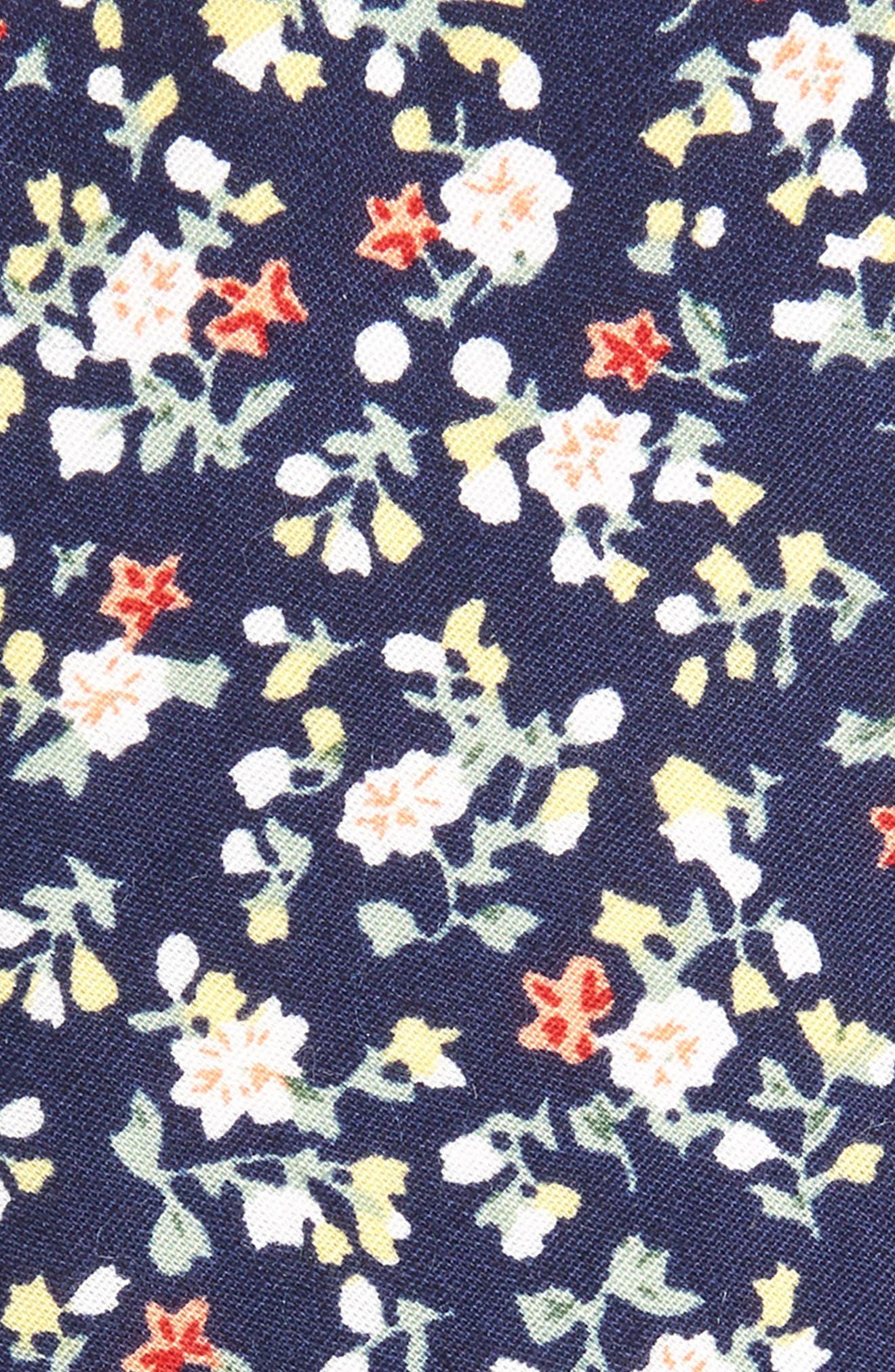 Venera Floral Cotton Tie,                             Alternate thumbnail 2, color,                             NAVY