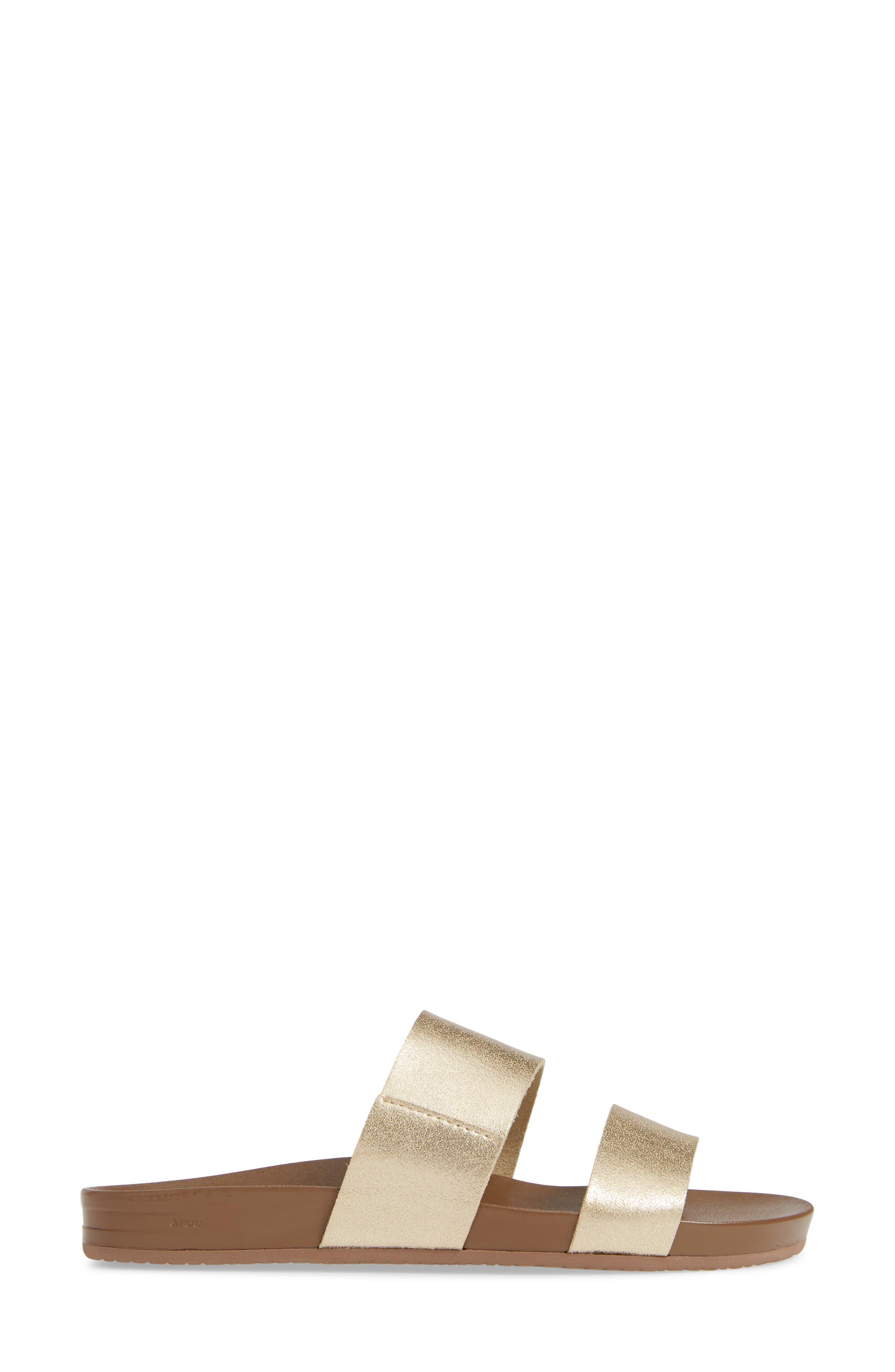 REEF,                             Cushion Bounce Vista Slide Sandal,                             Alternate thumbnail 3, color,                             710