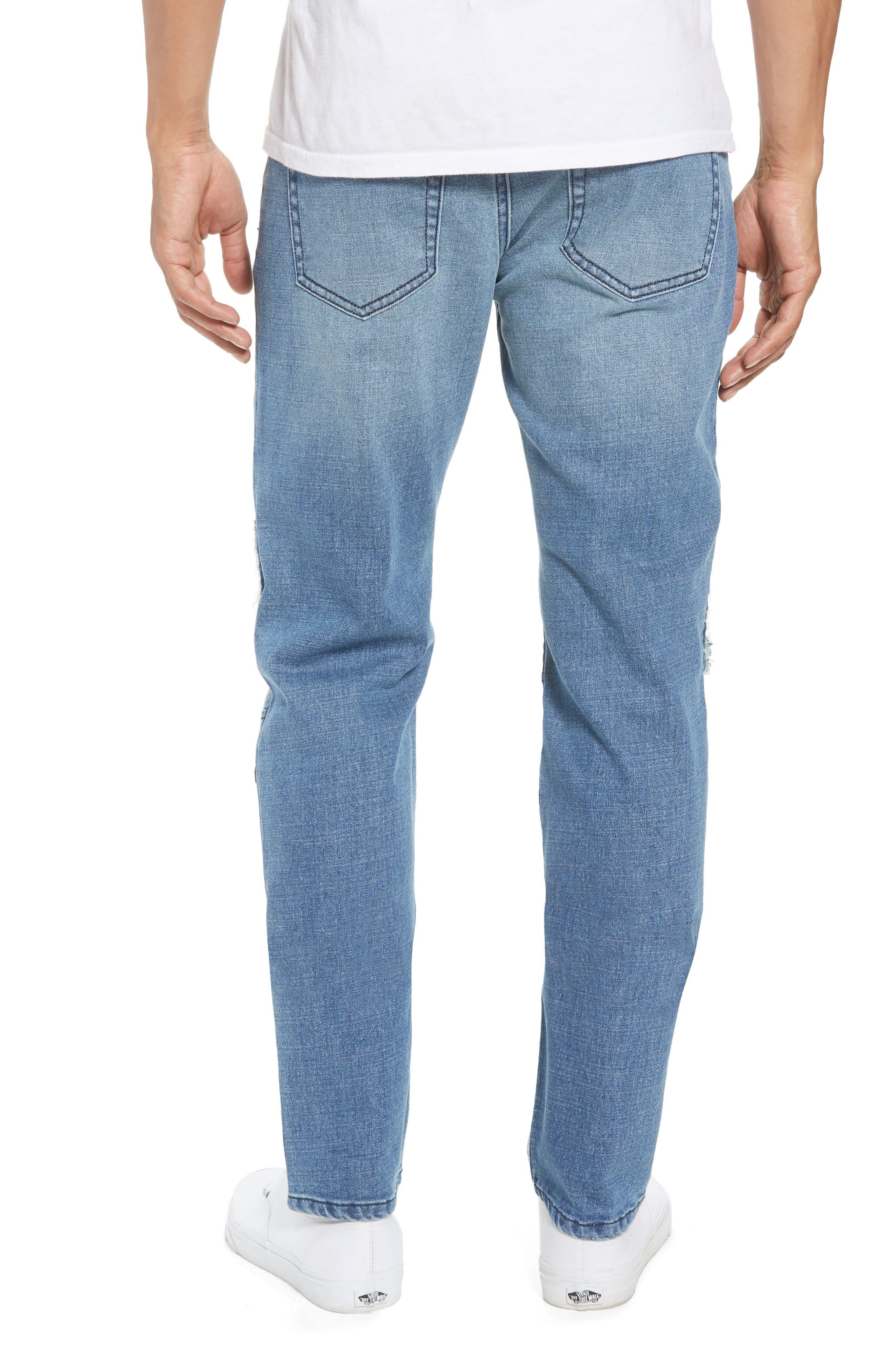 Skinny Moto Jeans,                             Alternate thumbnail 2, color,                             BLUE RIVERS WASH