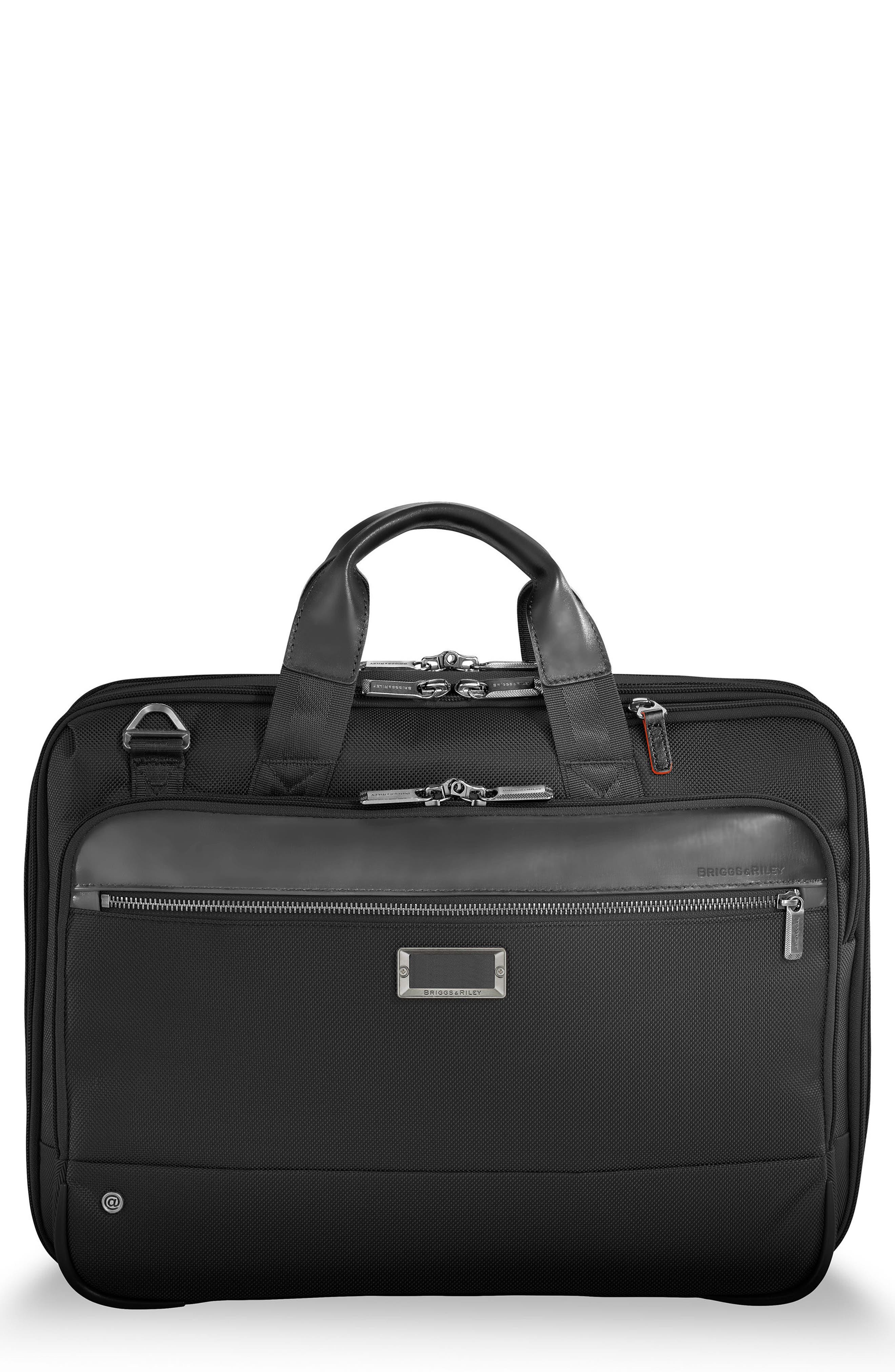 @work Expandable Briefcase,                         Main,                         color, BLACK