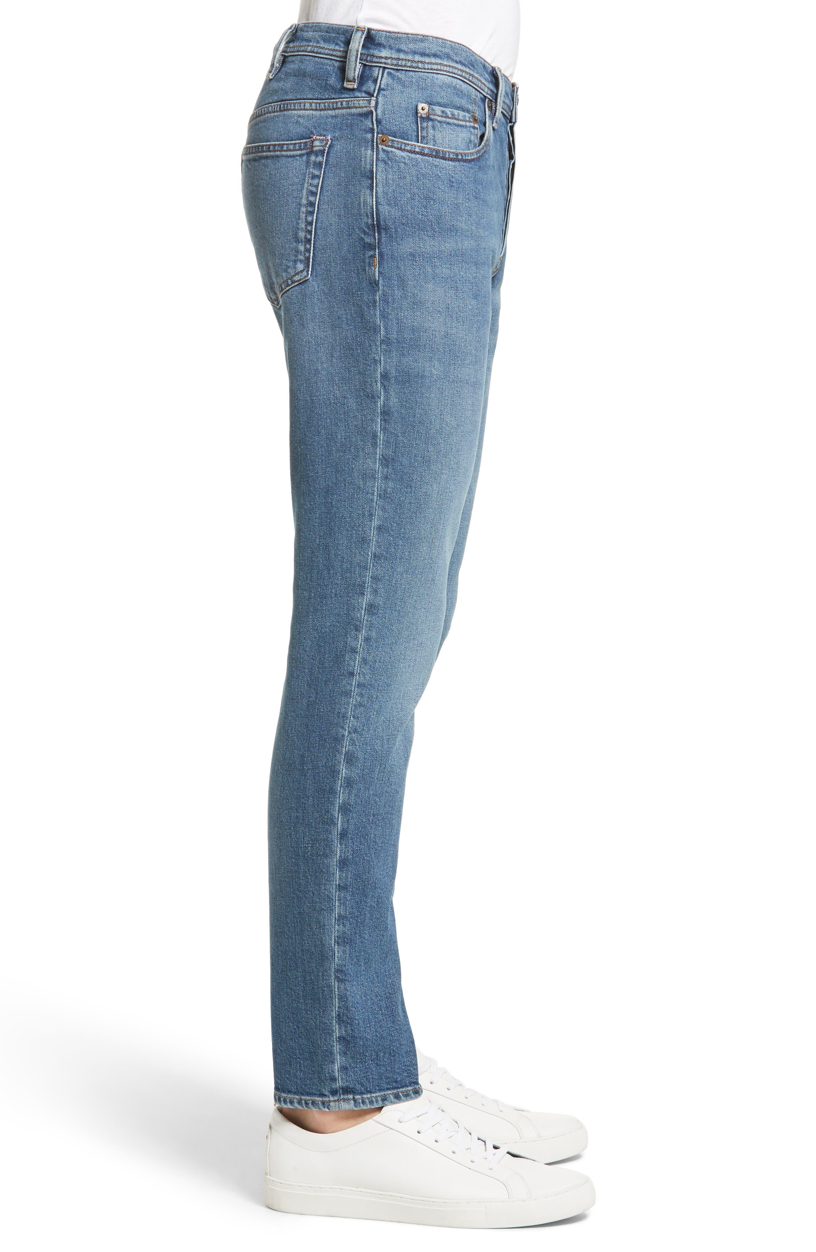 River Slim Taper Jeans,                             Alternate thumbnail 3, color,                             MID BLUE