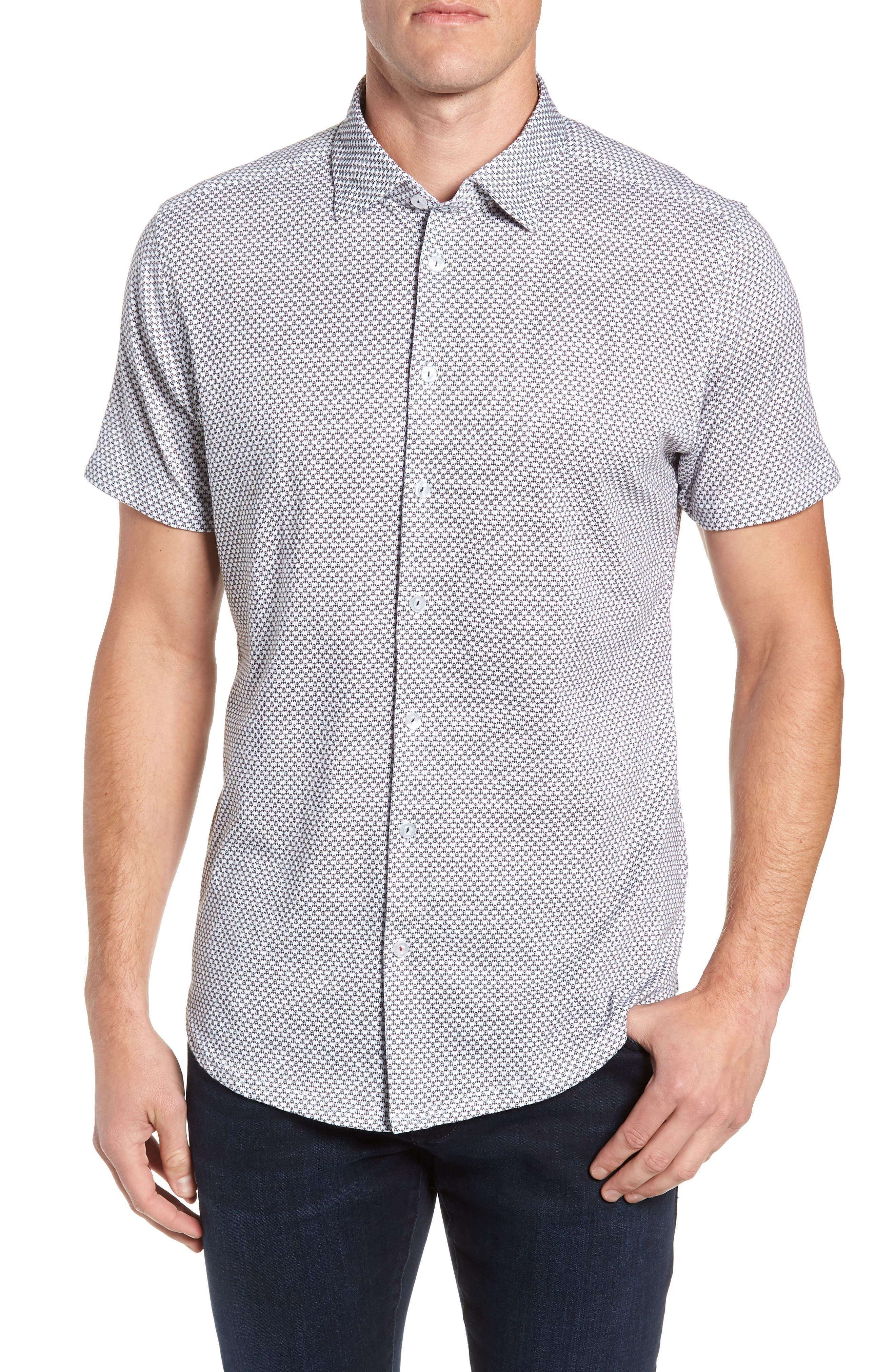 Regular Fit Sport Shirt,                             Main thumbnail 1, color,                             WHITE