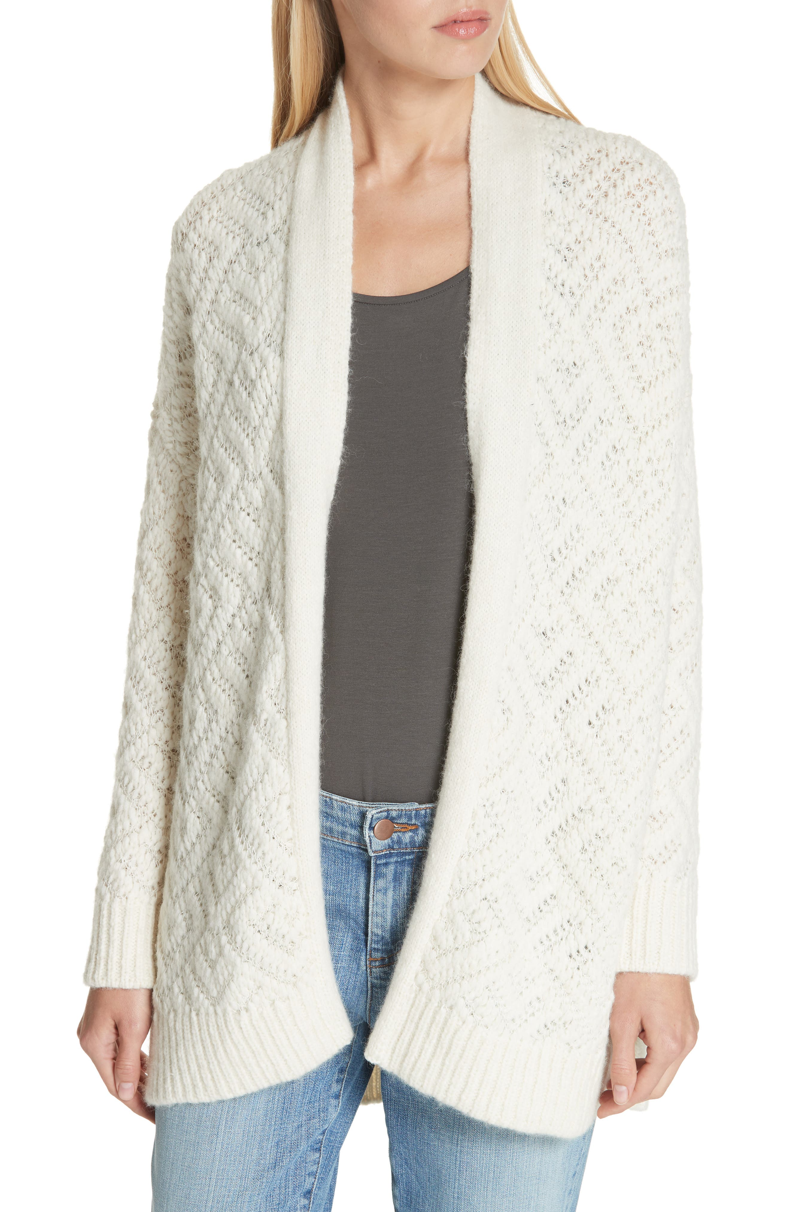 Simple Cardigan, Main, color, SOFT WHITE