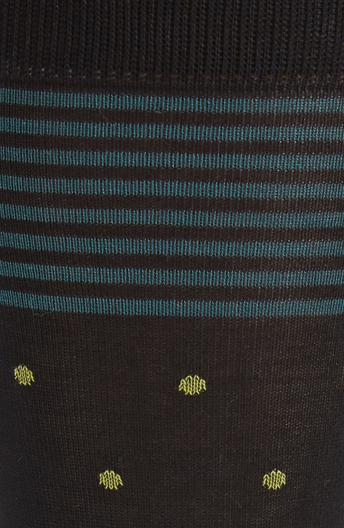 Stripe & Dot Socks,                             Alternate thumbnail 2, color,                             BLACK/ OLIVE