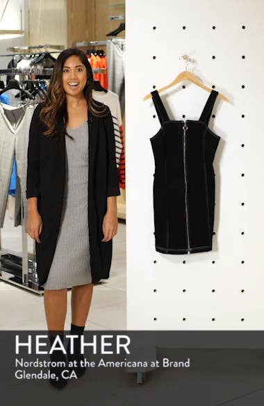 Stretch Denim Zip Dress, sales video thumbnail