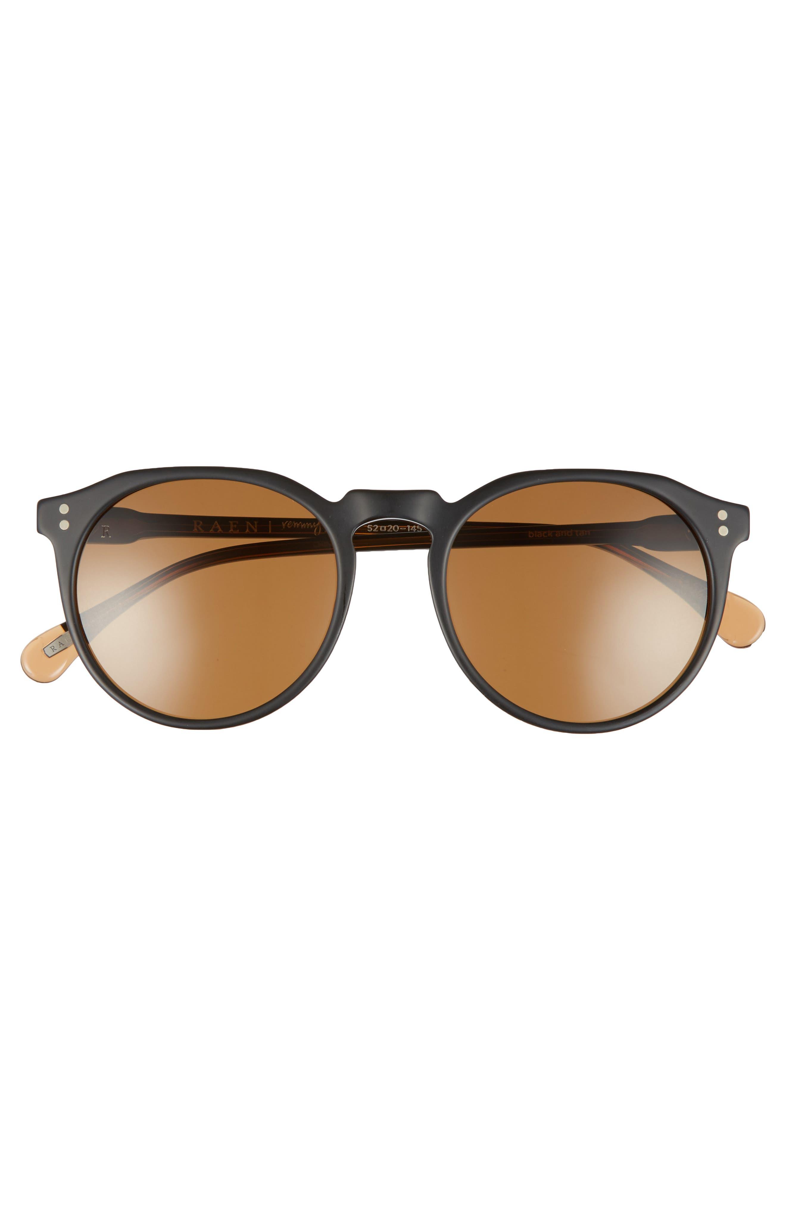 Remmy 52mm Sunglasses,                             Alternate thumbnail 2, color,                             BLACK/ TAN/ BROWN