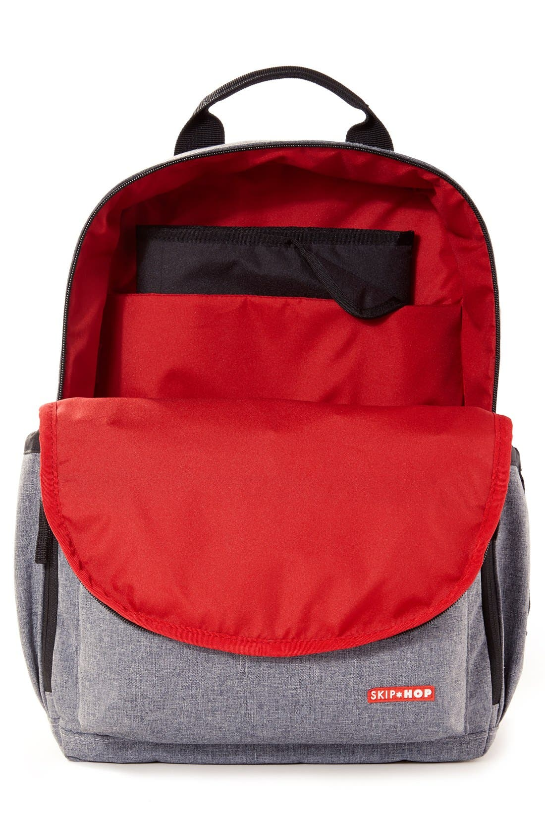 'Duo Signature' Diaper Backpack,                             Alternate thumbnail 14, color,