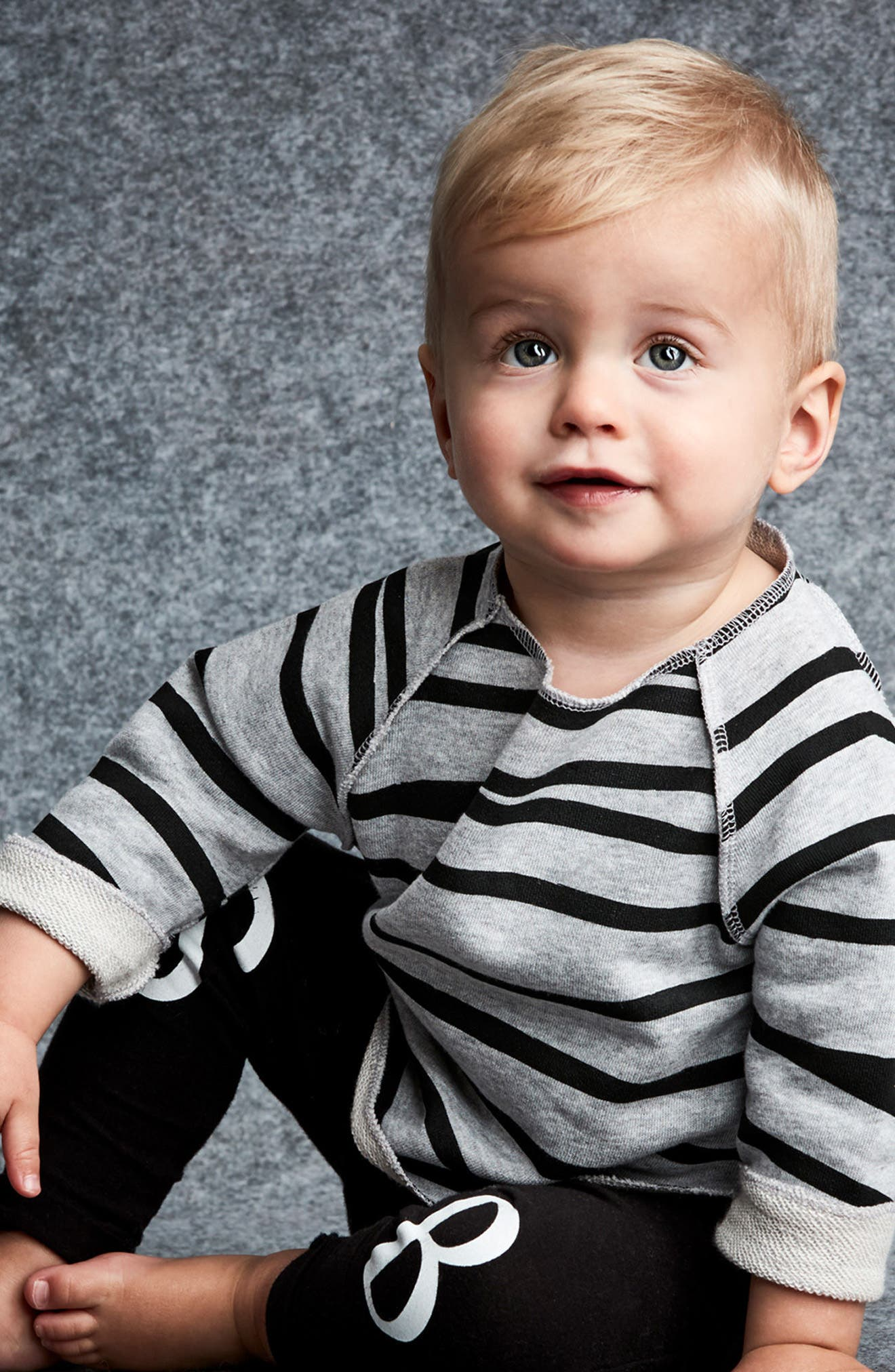 Relaxed Stripe Sweatshirt,                             Alternate thumbnail 3, color,