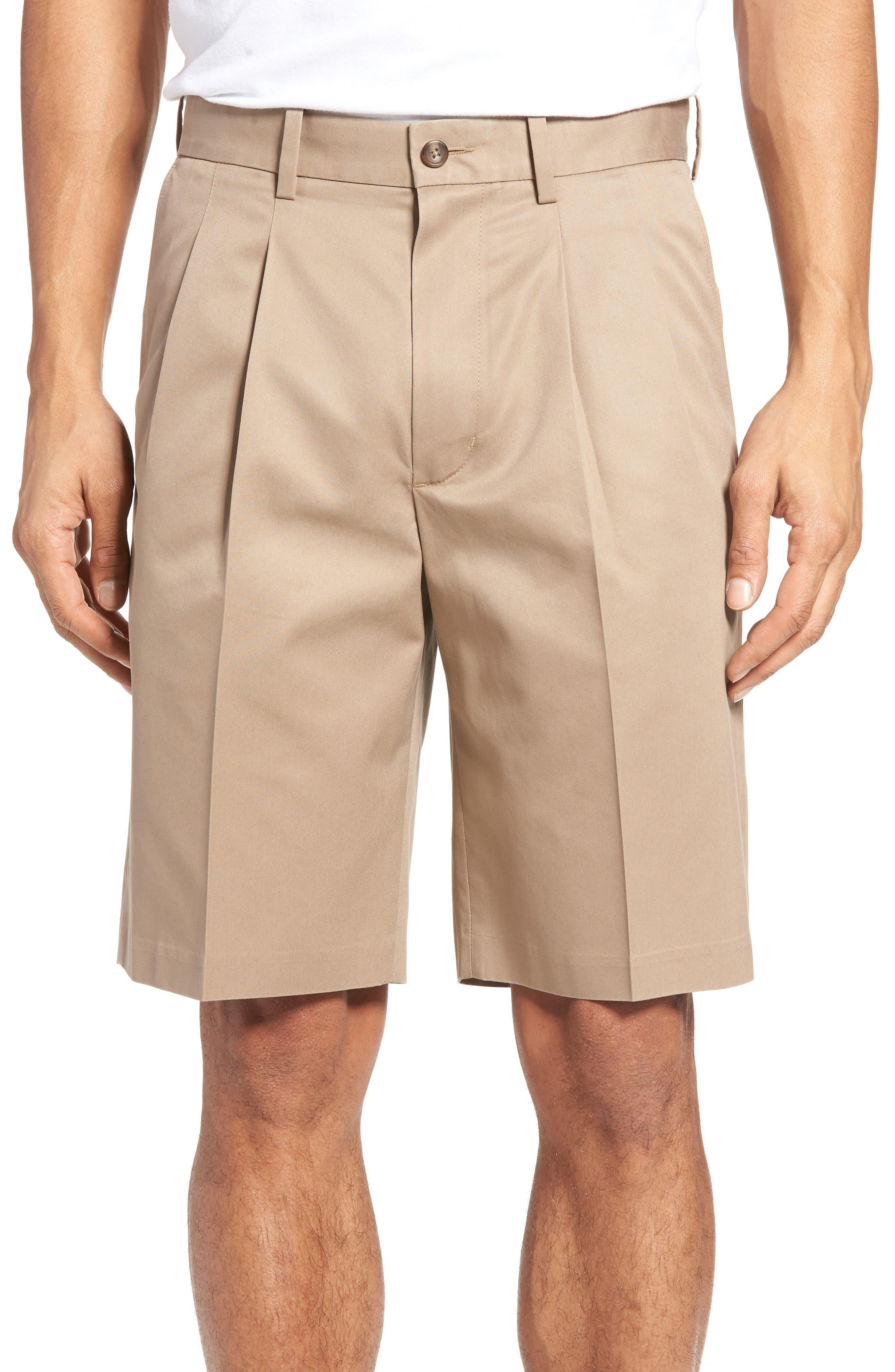 Pleated Supima<sup>®</sup> Cotton Shorts,                             Main thumbnail 3, color,