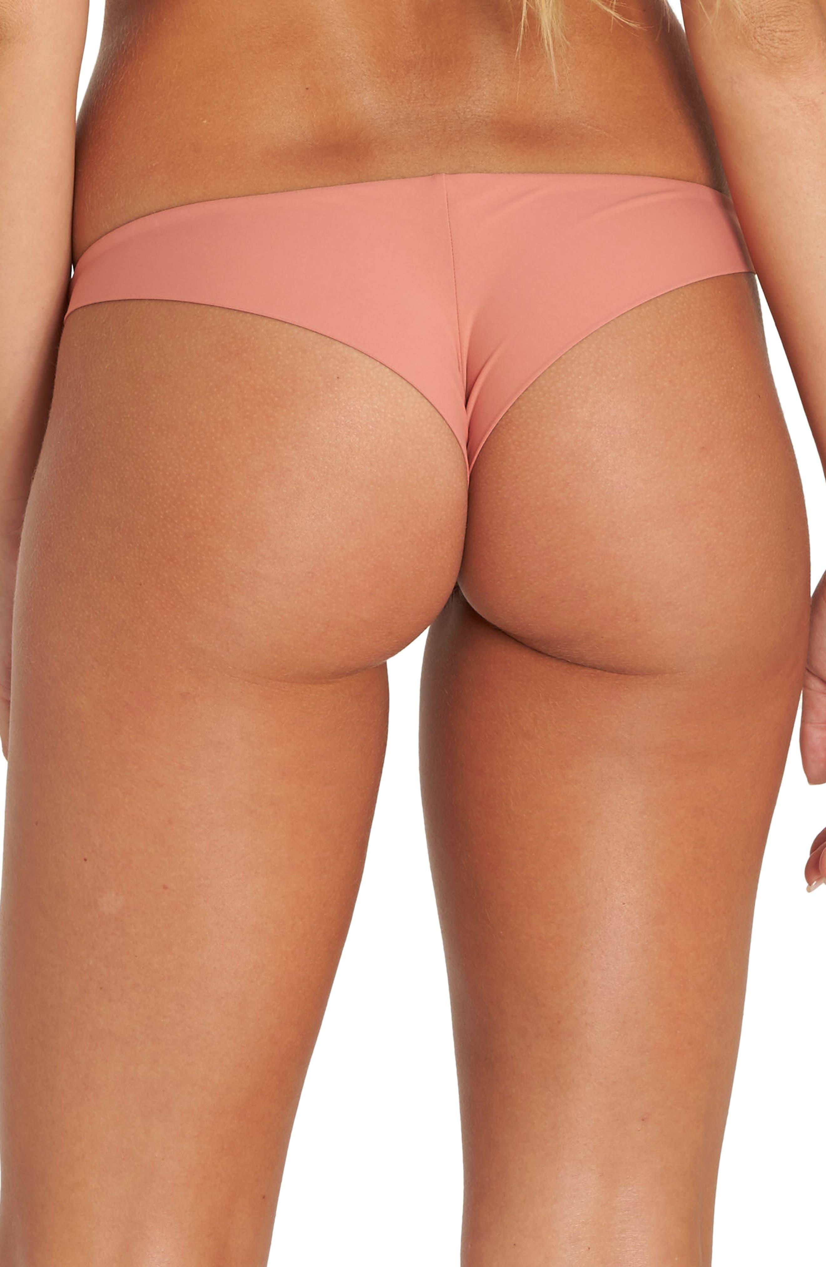 Sol Searcher Tanga Cheeky Bikini Bottom,                             Alternate thumbnail 4, color,