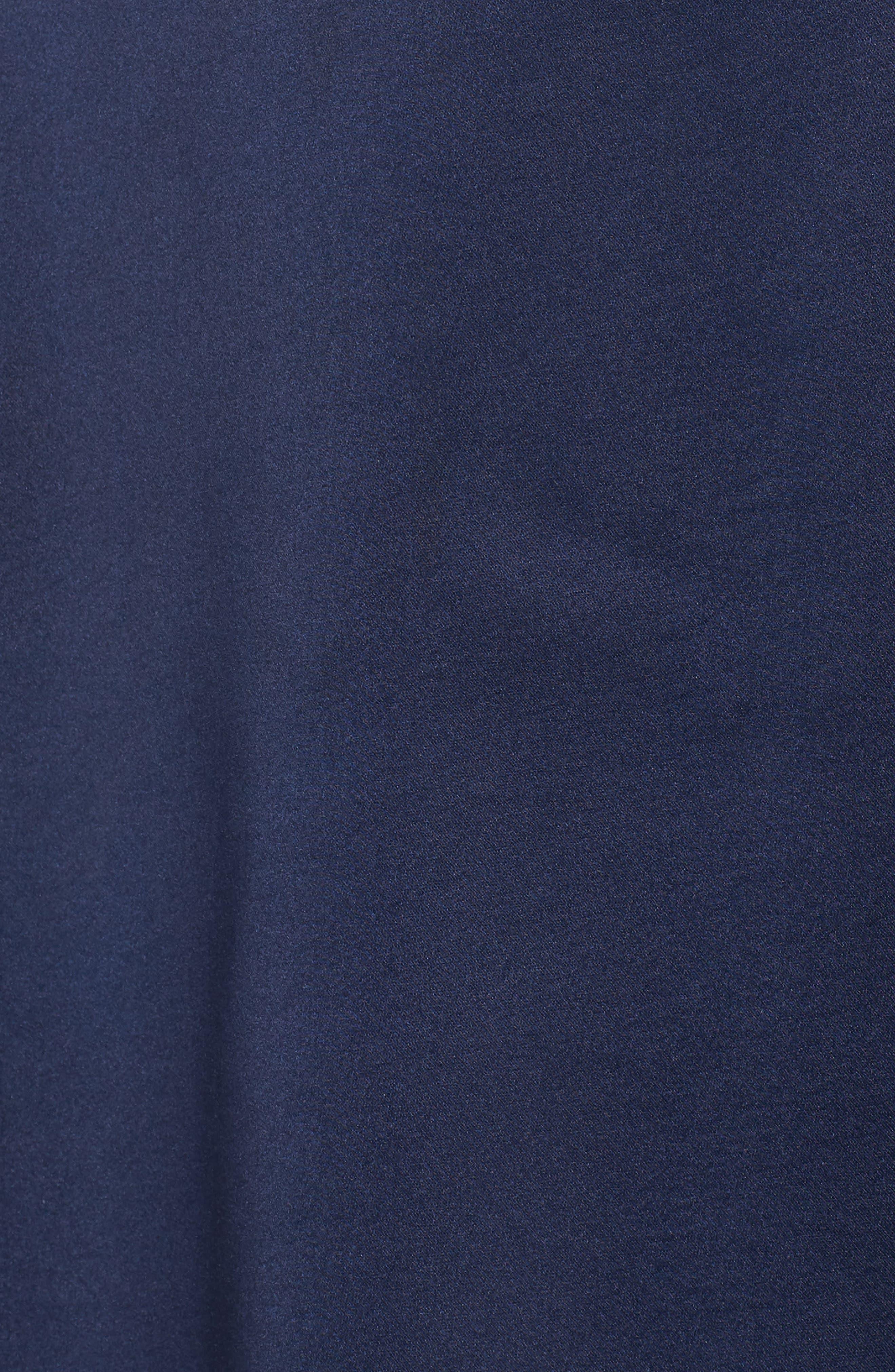 Marilyn Satin Faux Wrap Dress,                             Alternate thumbnail 6, color,                             400