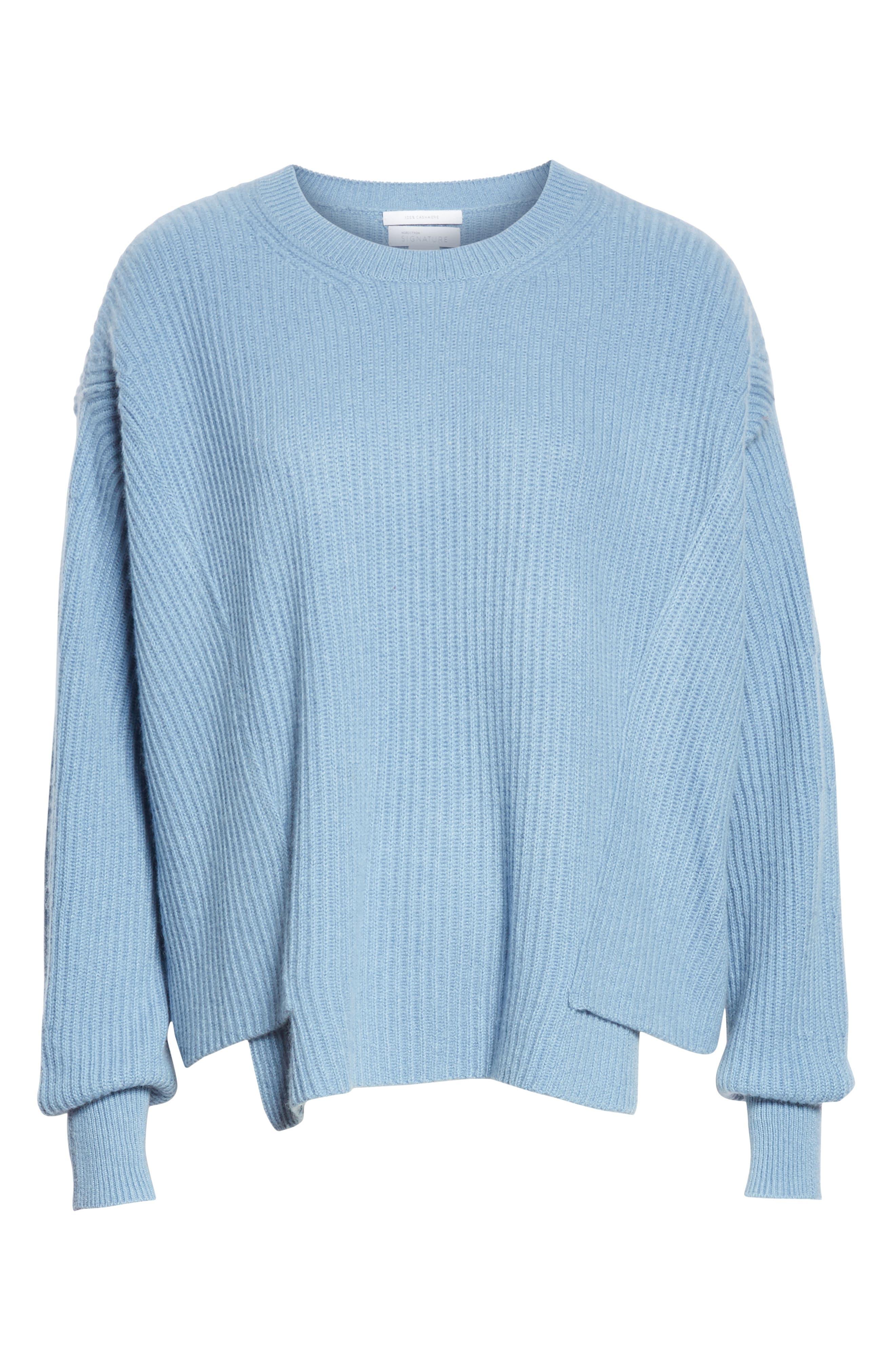Rib Knit Cashmere Sweater,                             Alternate thumbnail 6, color,                             420