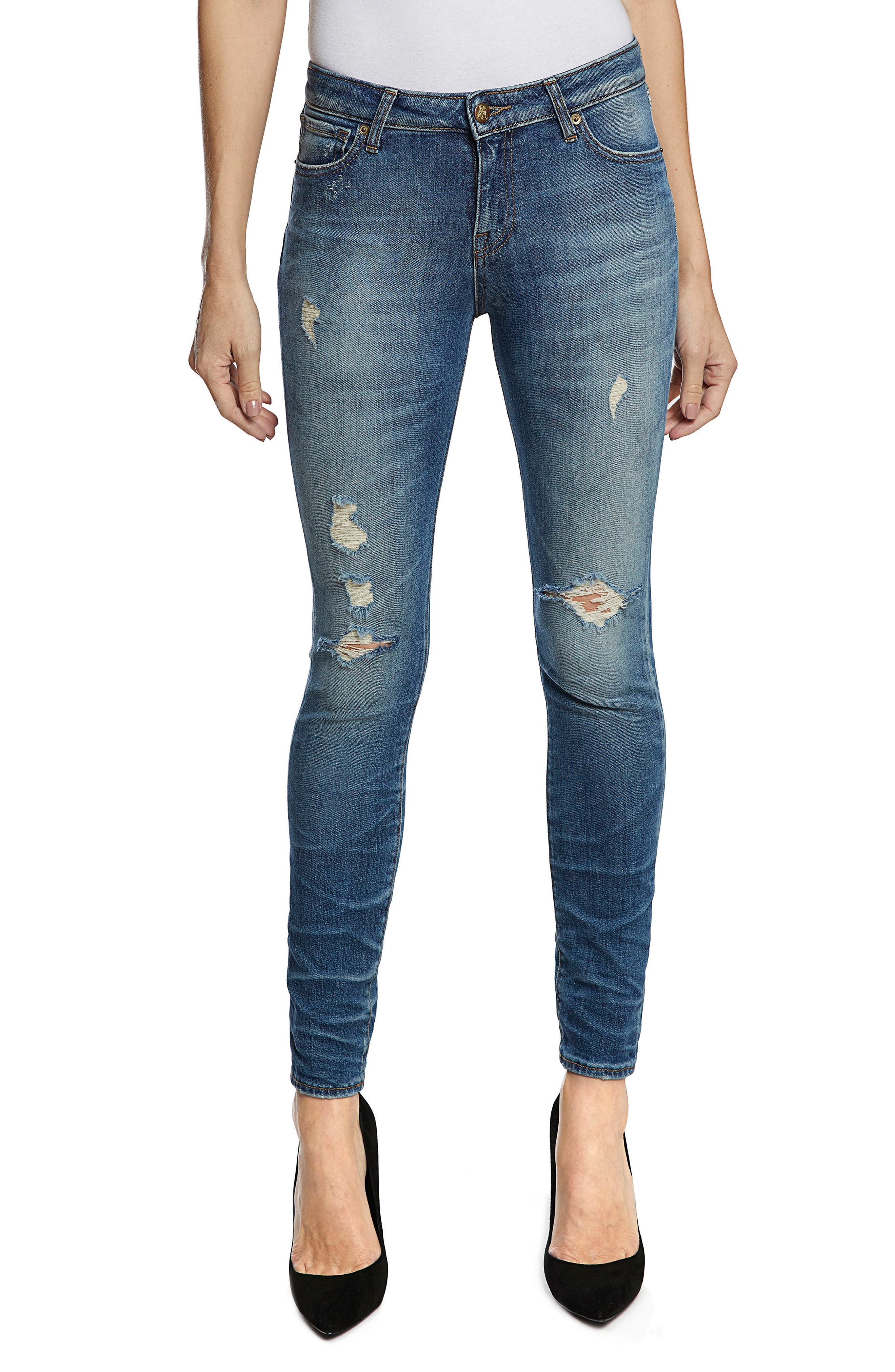 Camaro Ankle Skinny Jeans,                             Main thumbnail 1, color,                             490