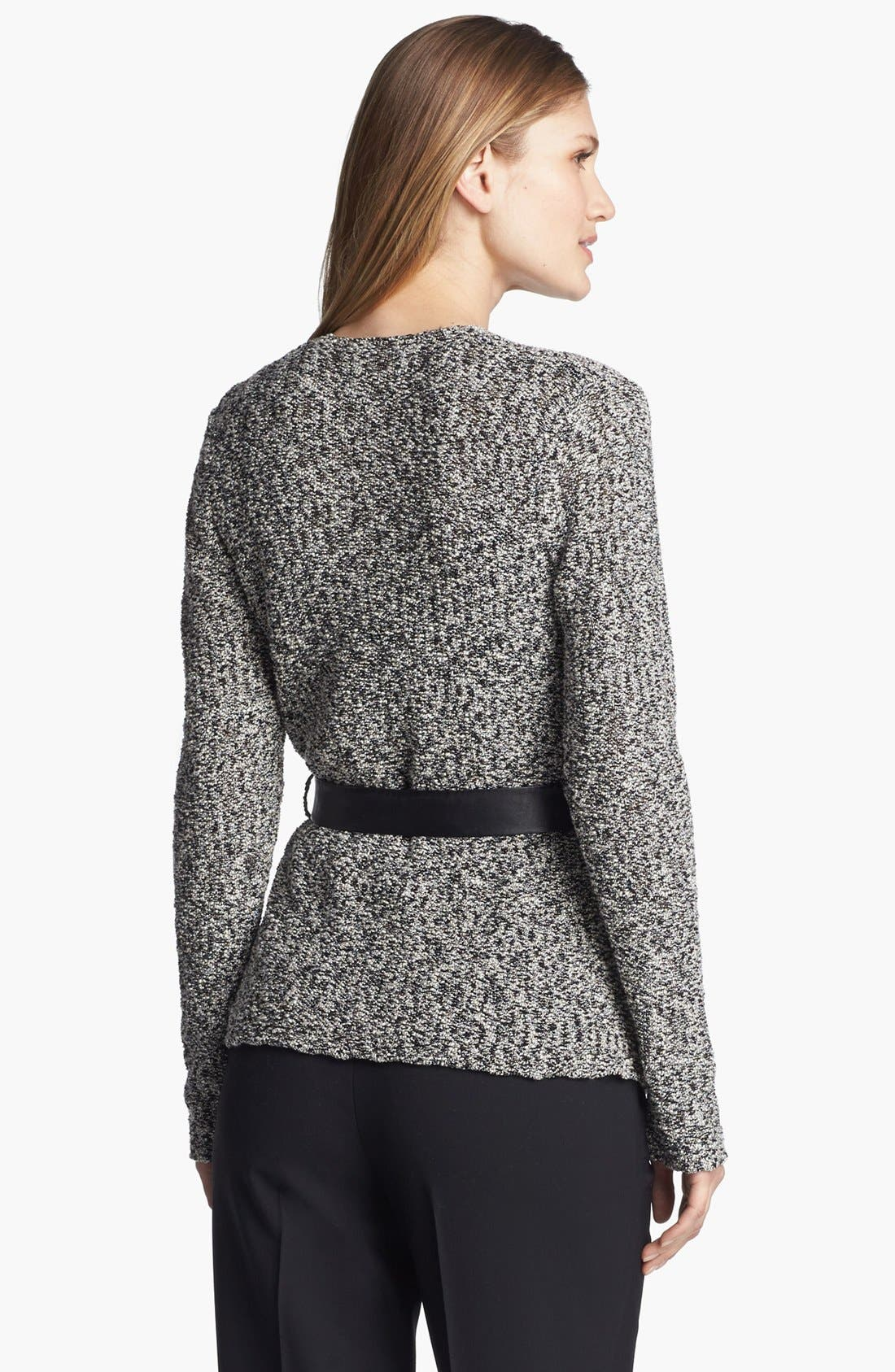 'Gallo' Belted Sweater Jacket,                             Alternate thumbnail 3, color,                             001