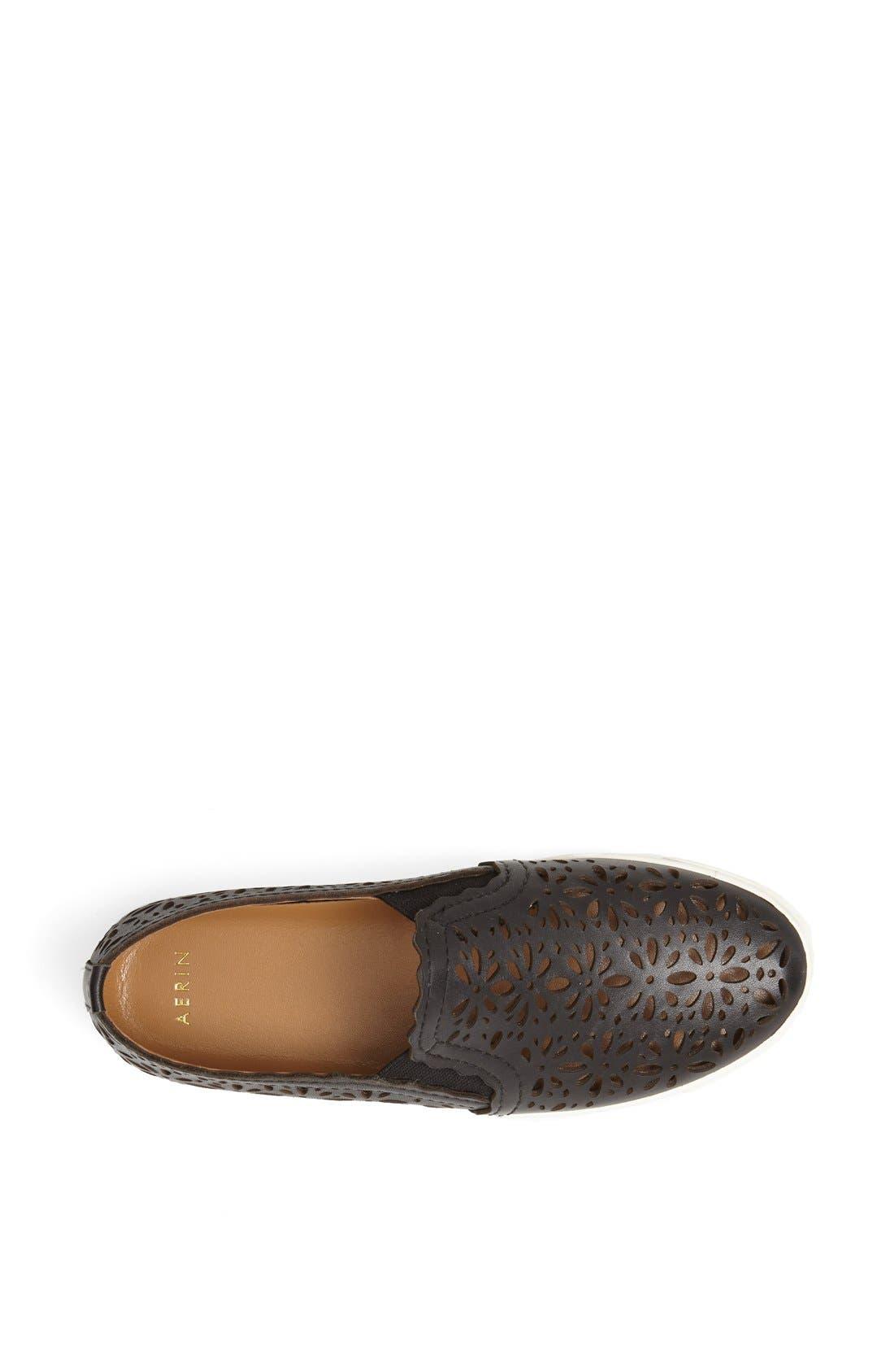 AERIN,                             'Murex' Perforated Slip-On Sneaker,                             Alternate thumbnail 2, color,                             001