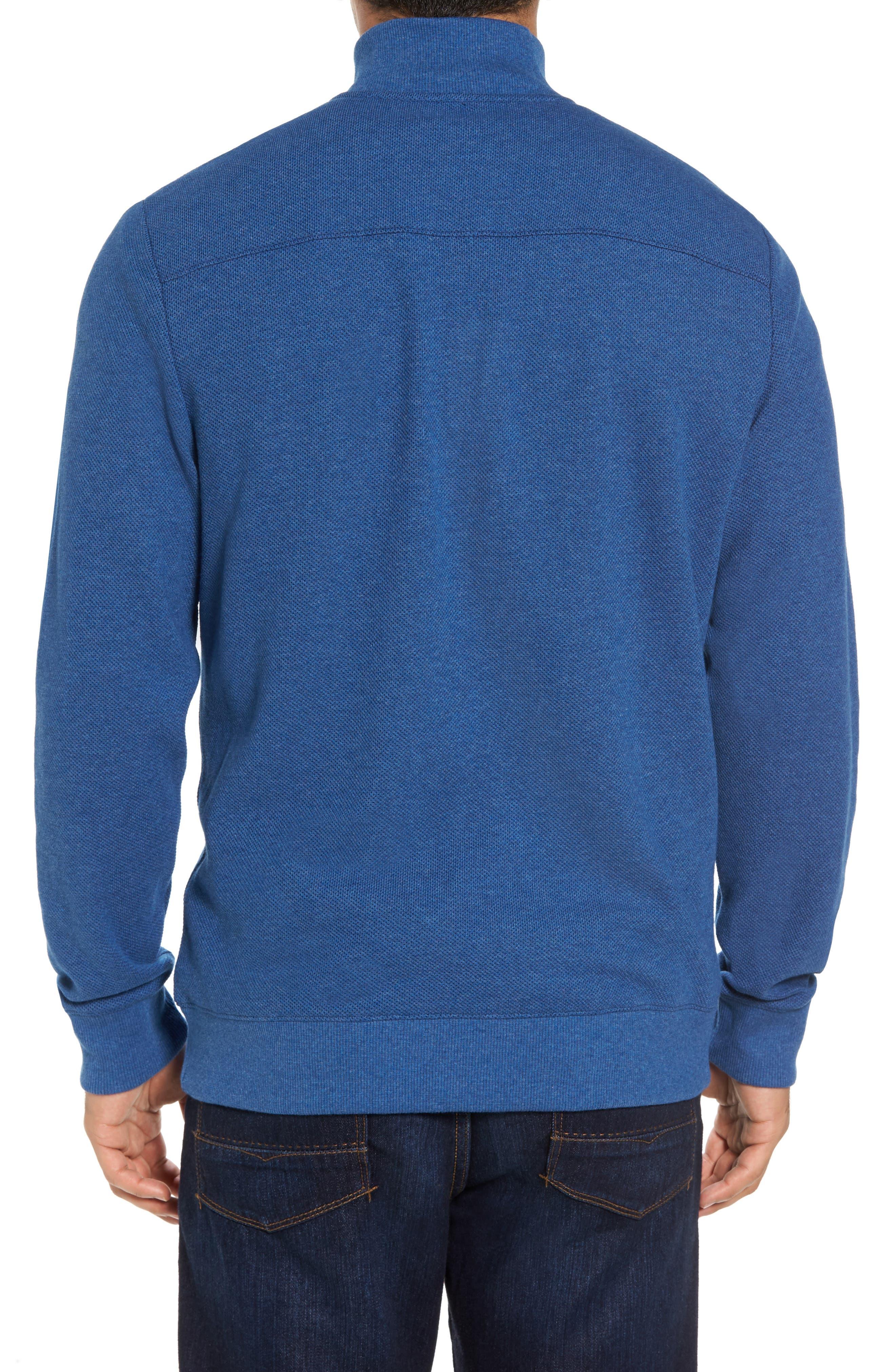 Double-Knit Quarter Zip Pullover,                             Alternate thumbnail 2, color,                             461