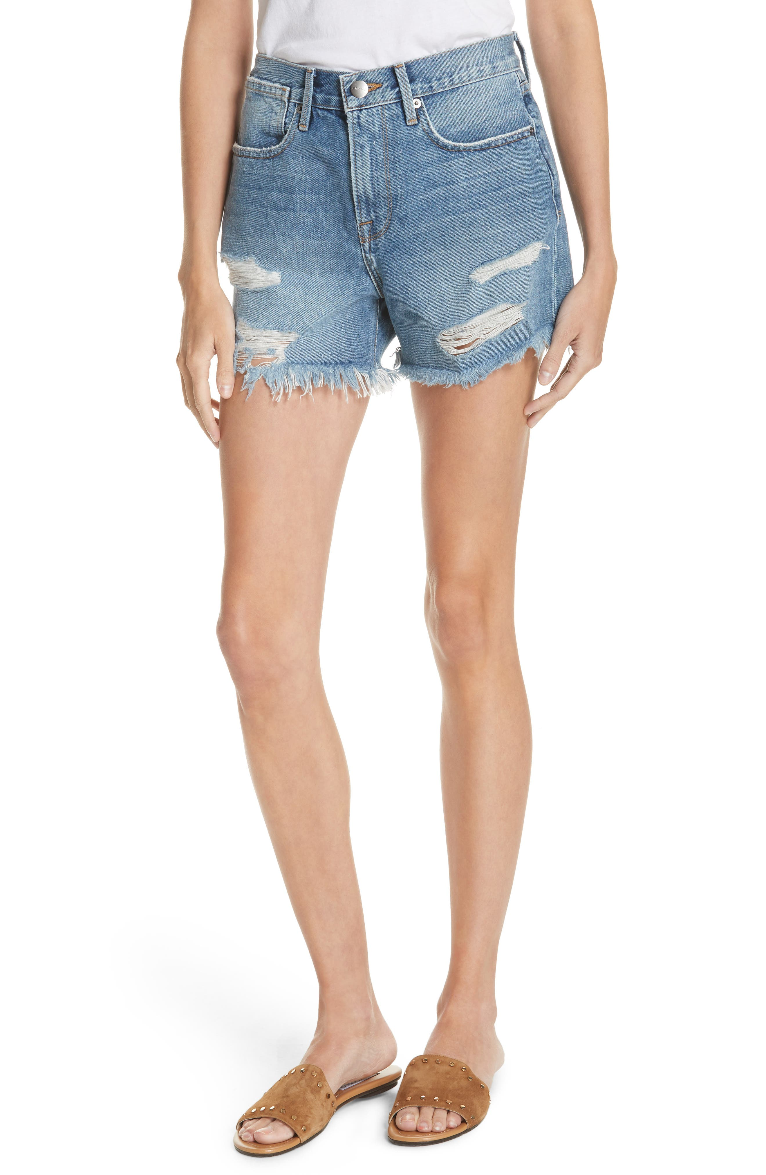 Le Stevie Denim Shorts,                             Main thumbnail 1, color,                             401